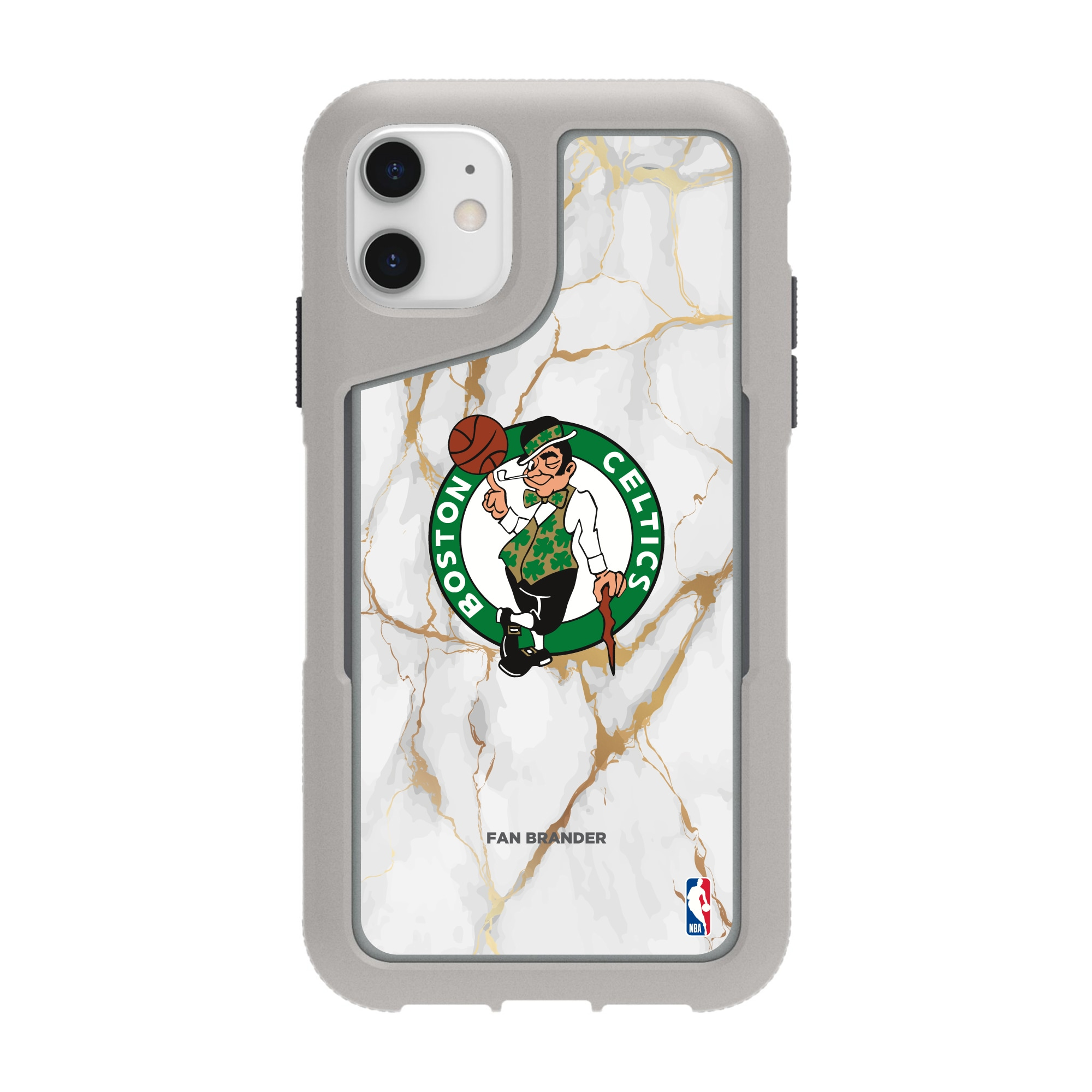 Boston Celtics Griffin Survivor Endurance Marble iPhone Case - Gray