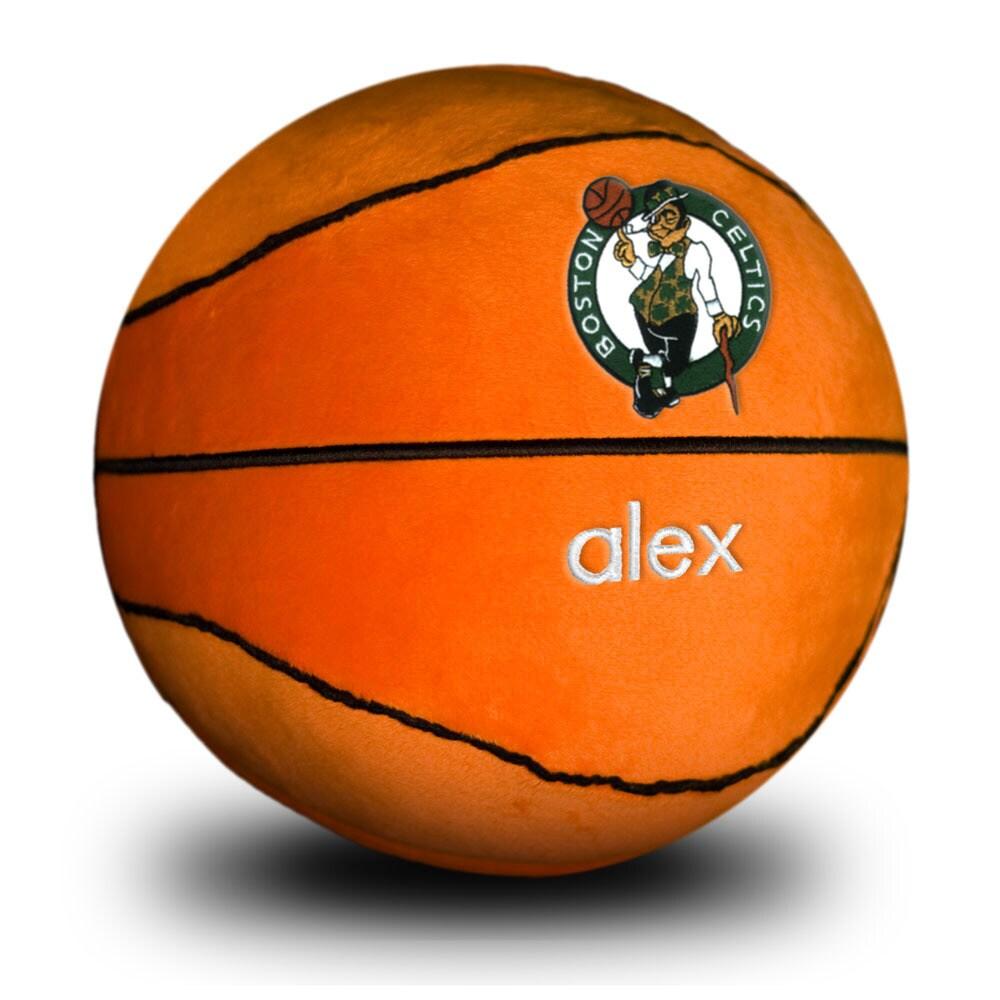 Boston Celtics Personalized Plush Baby Basketball - Orange