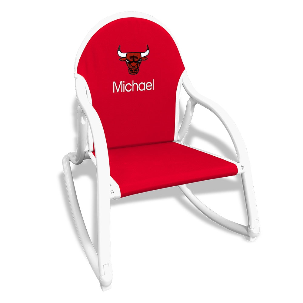 Chicago Bulls Children's Personalized Rocking Chair - Red