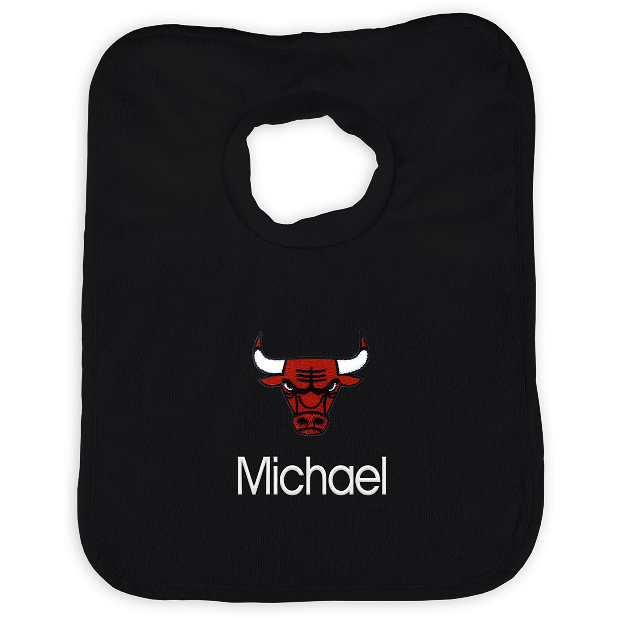 Chicago Bulls Infant Personalized Bib - Red