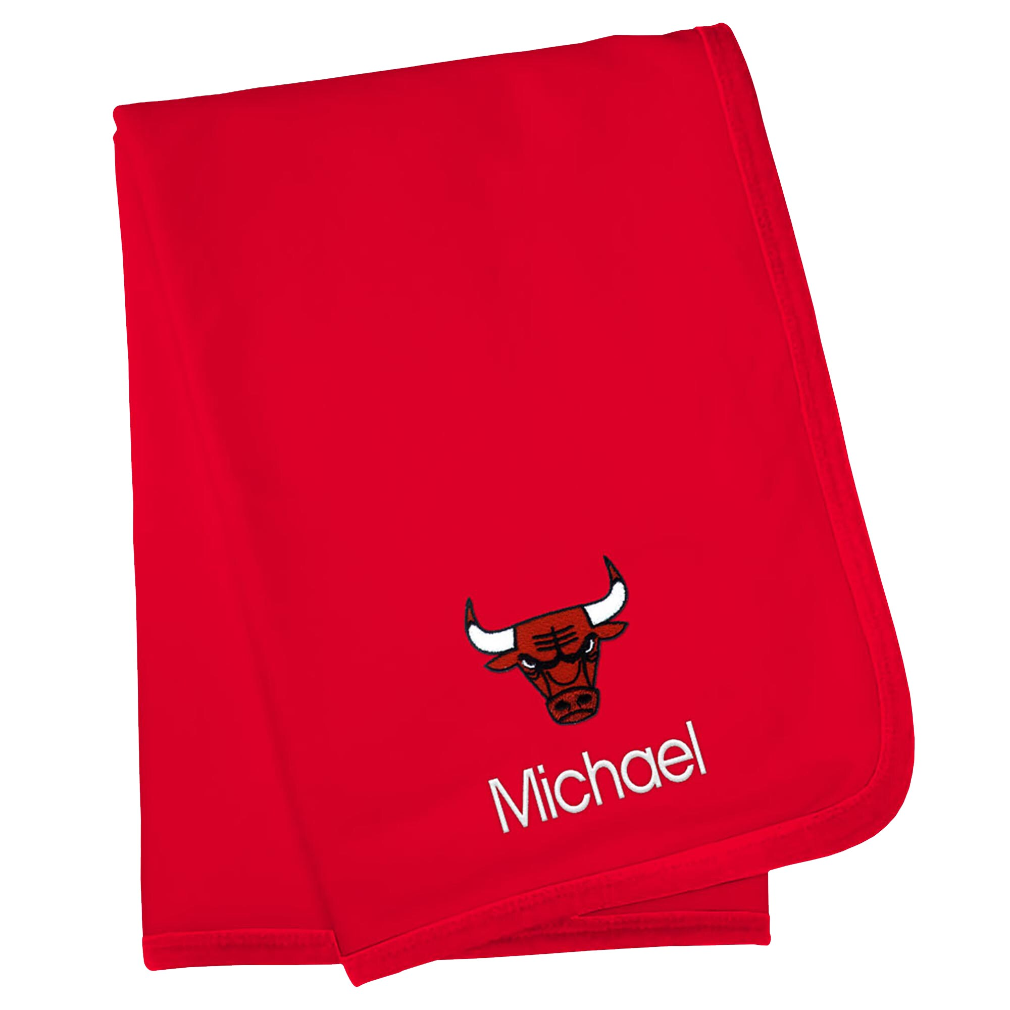 Chicago Bulls Infant Personalized Blanket - Red
