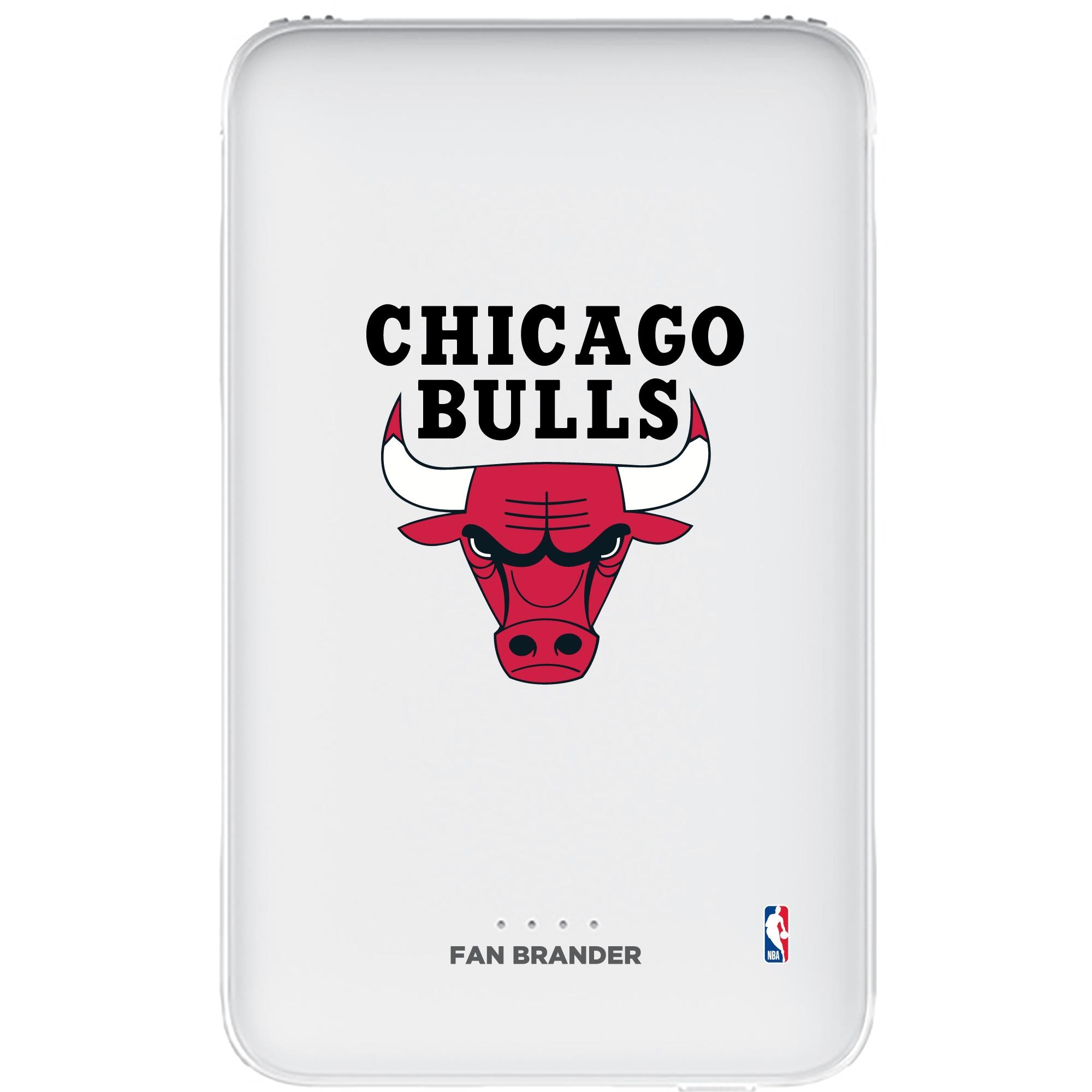 Chicago Bulls 5000mAh Portable Power Bank - White