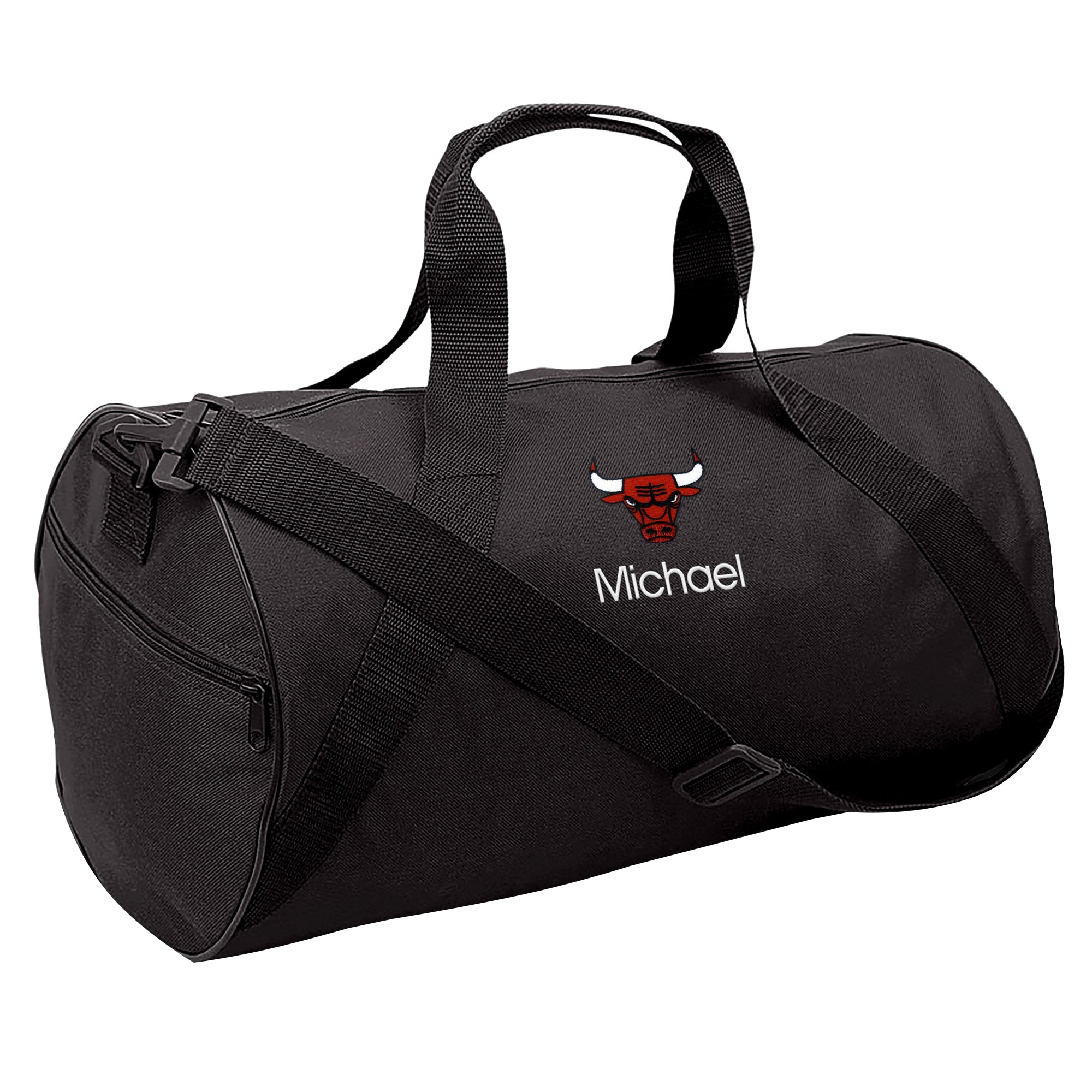 Chicago Bulls Youth Personalized Duffle Bag - Black