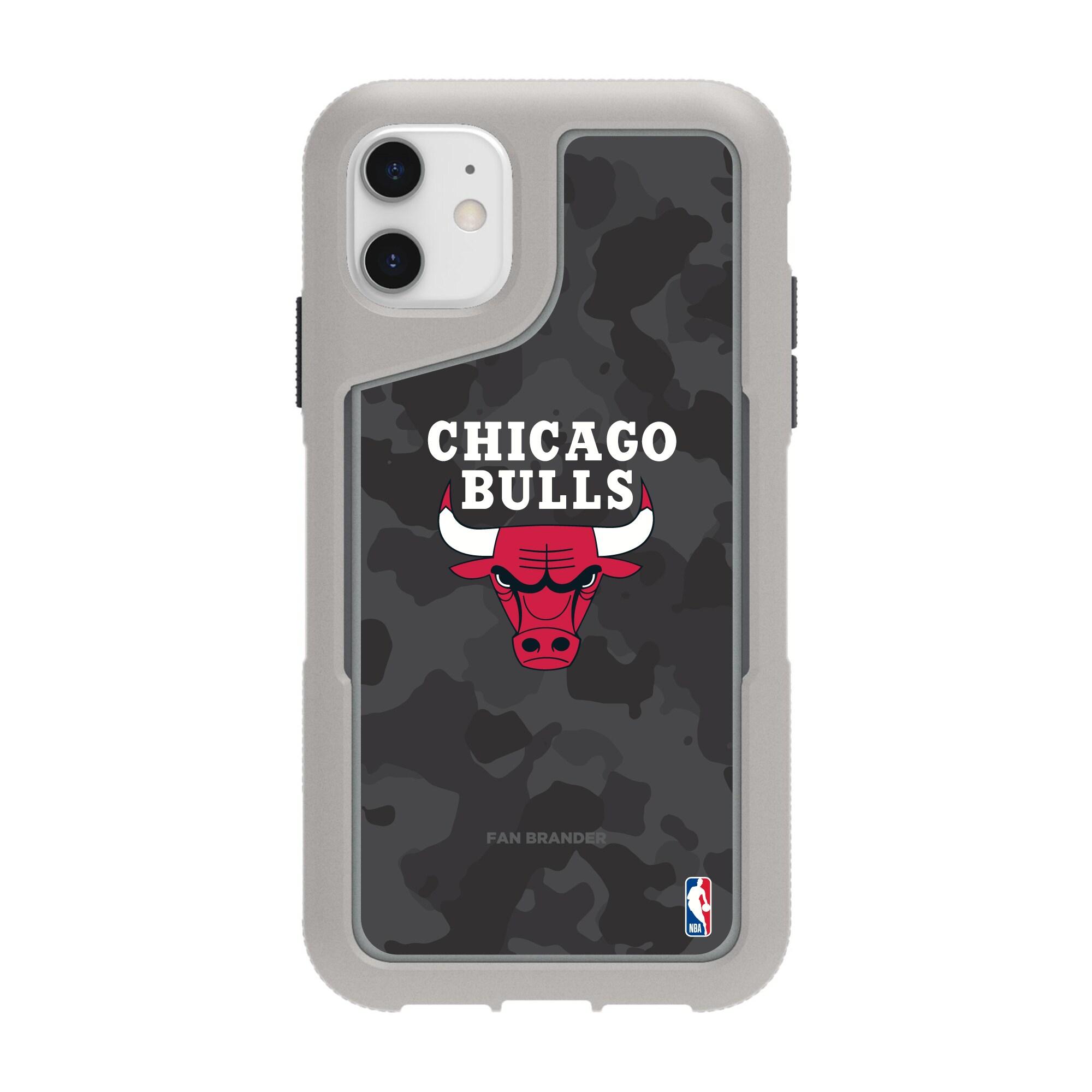 Chicago Bulls Griffin Survivor Endurance Camo iPhone Case - Gray
