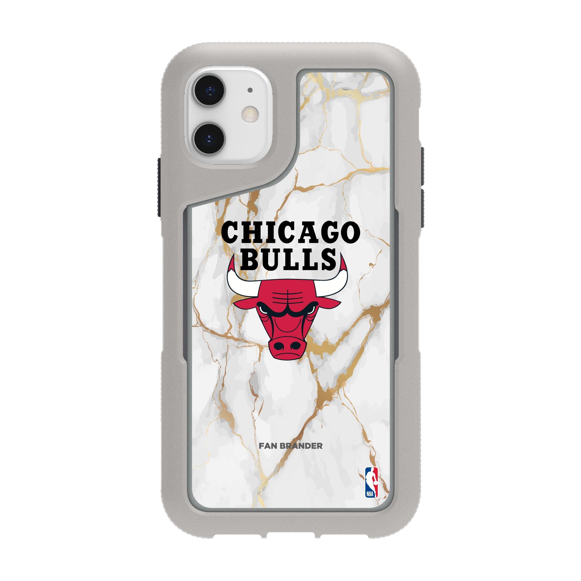 Chicago Bulls Griffin Survivor Endurance Marble iPhone Case - Gray