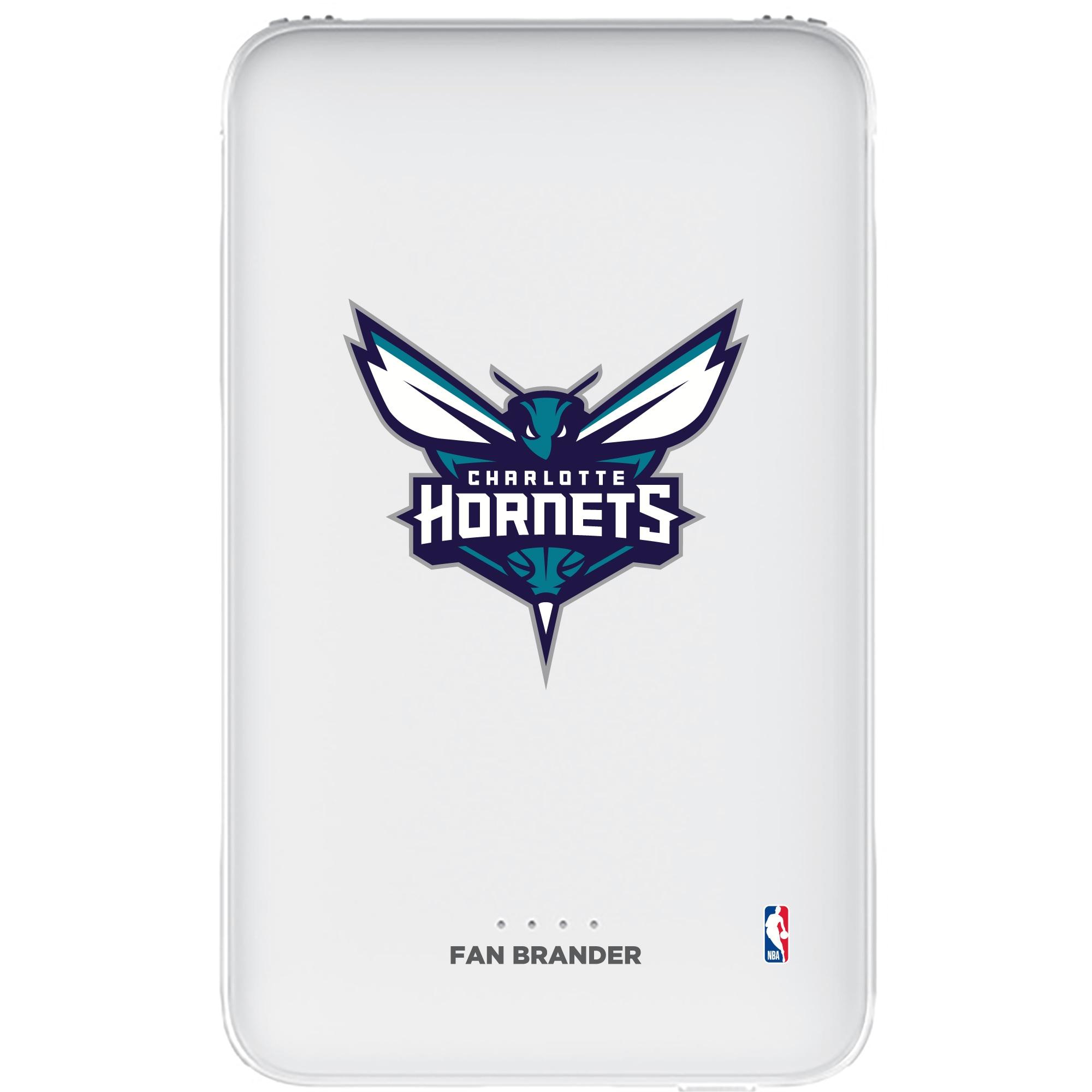 Charlotte Hornets 5000mAh Portable Power Bank - White