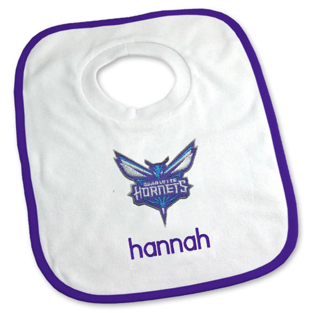 Charlotte Hornets Newborn & Infant Personalized Bib - White