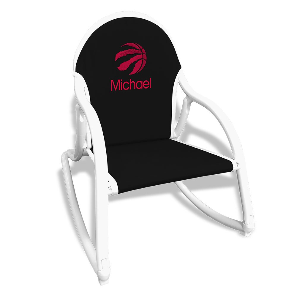 Toronto Raptors Children's Personalized Rocking Chair - Black