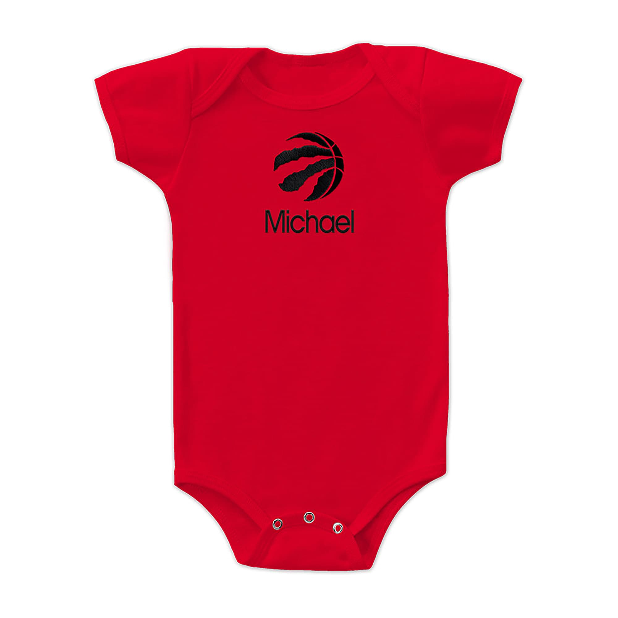 Toronto Raptors Infant Personalized Bodysuit - Red