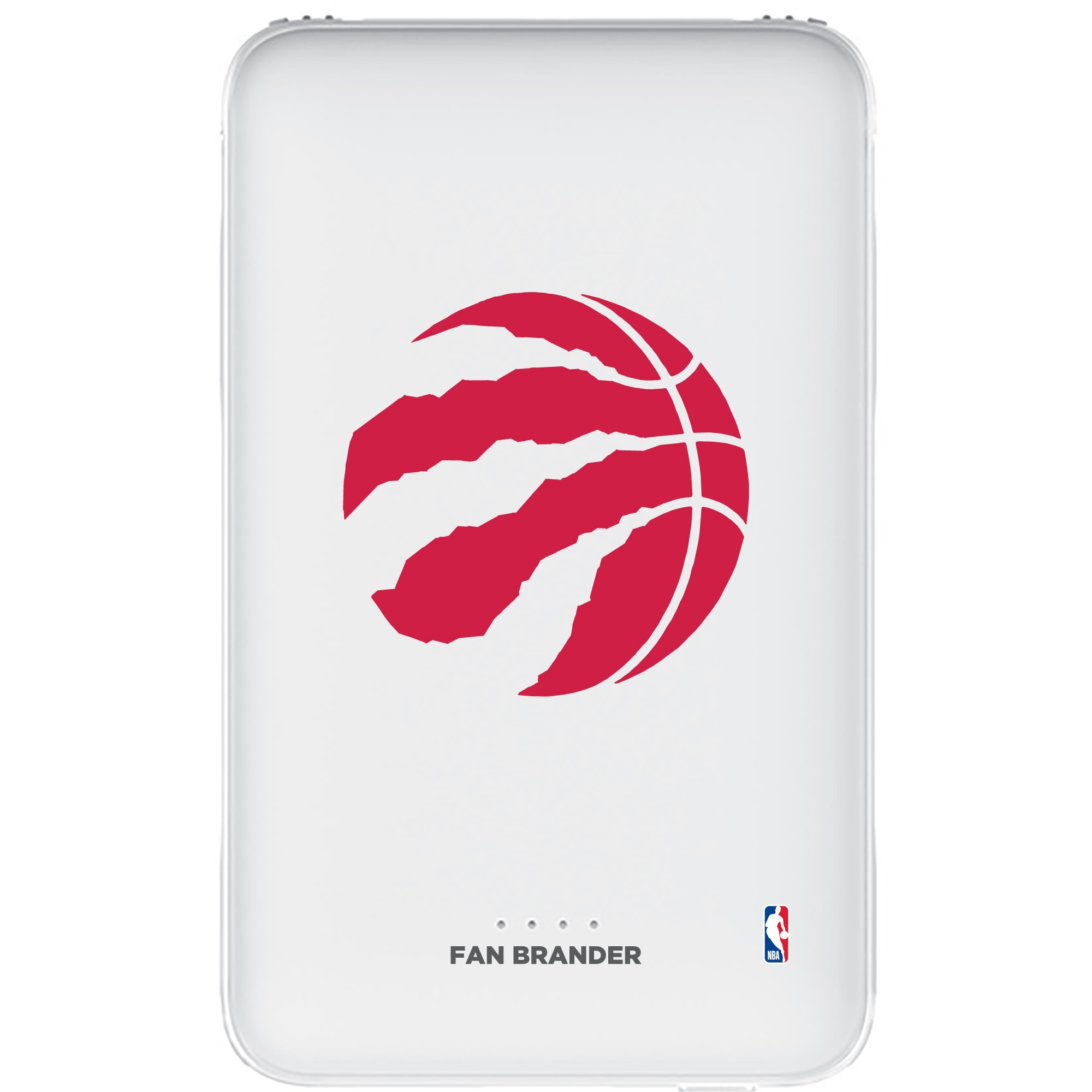 Toronto Raptors 5000mAh Portable Power Bank - White