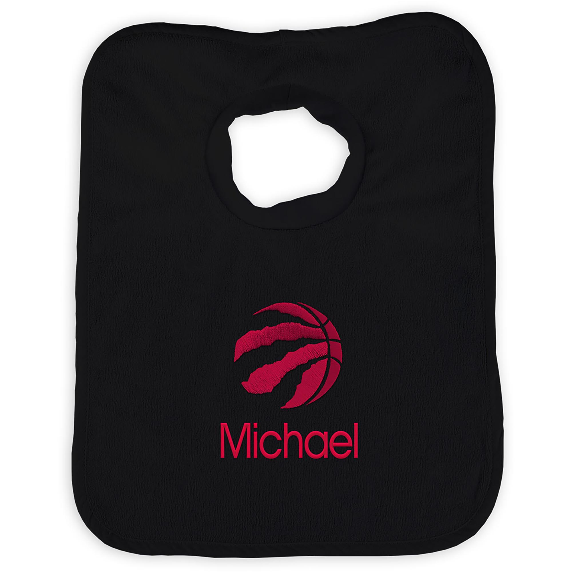 Toronto Raptors Infant Personalized Bib - Black