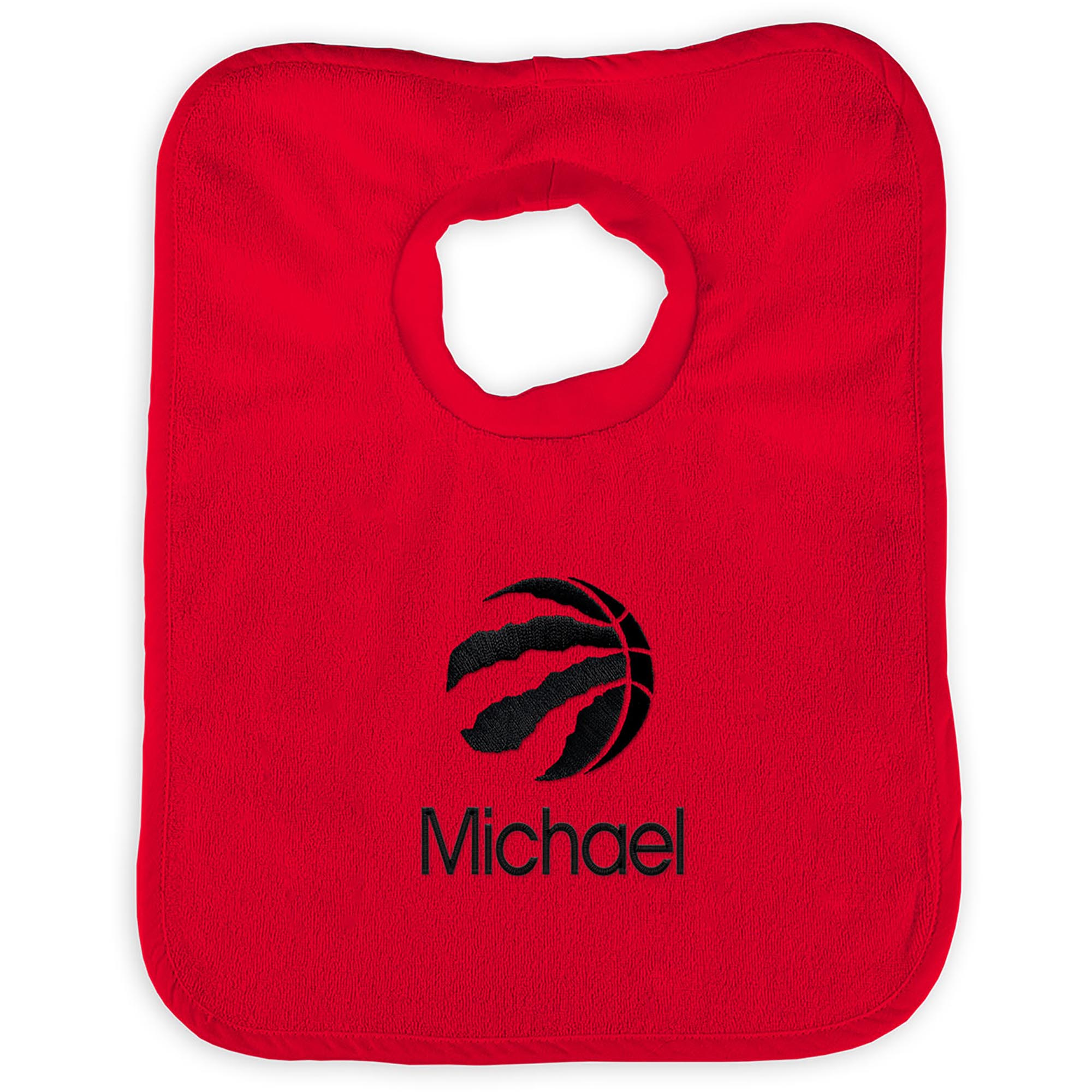 Toronto Raptors Infant Personalized Bib - Red