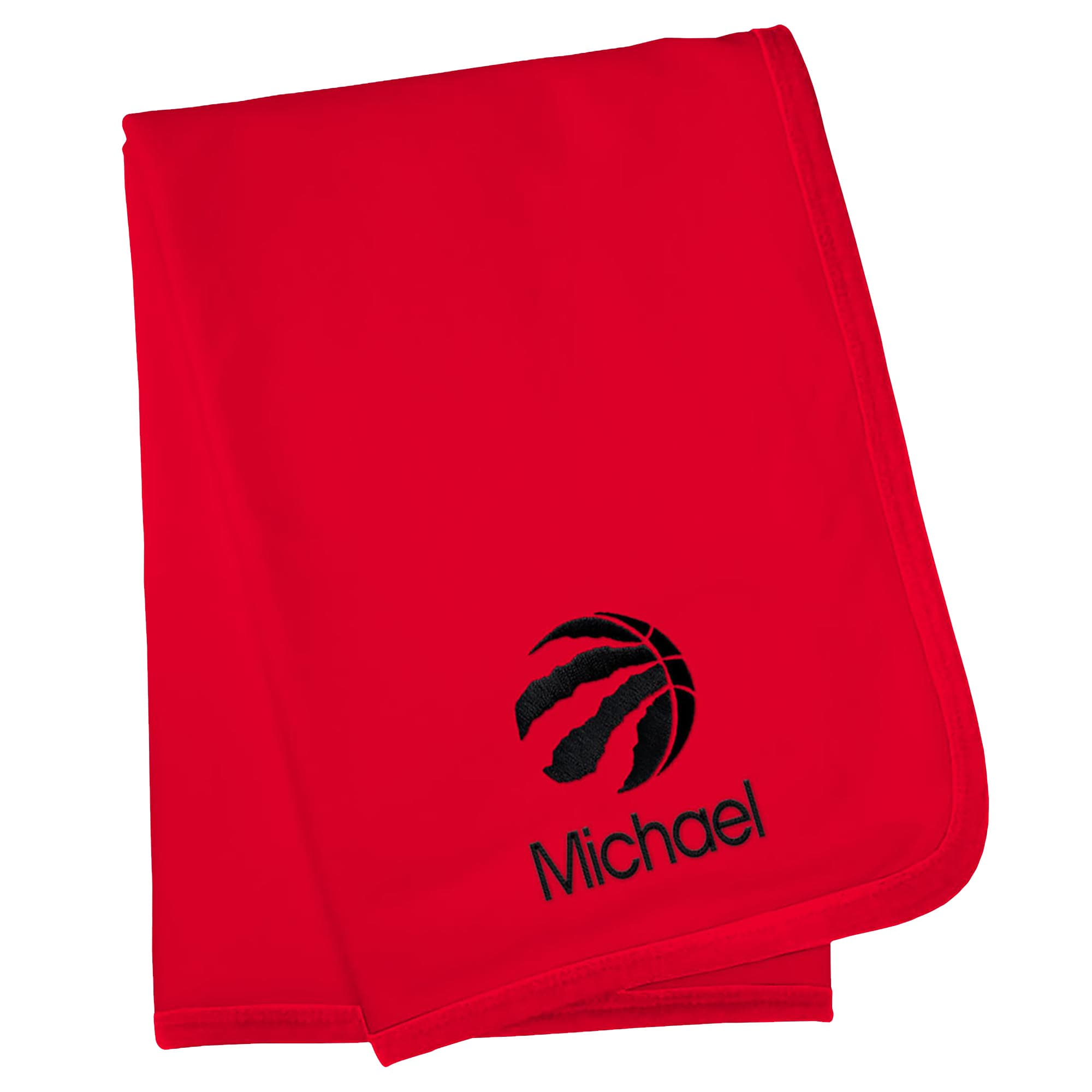 Toronto Raptors Infant Personalized Blanket - Red
