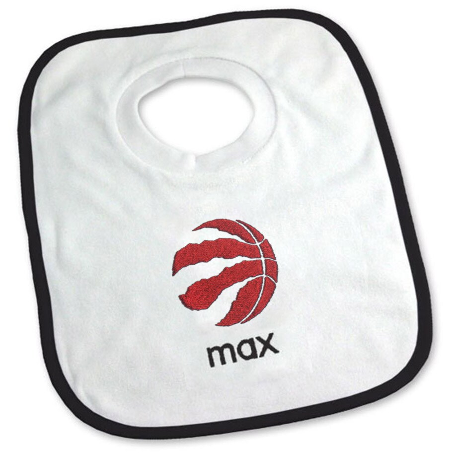 Toronto Raptors Newborn & Infant Personalized Bib - White