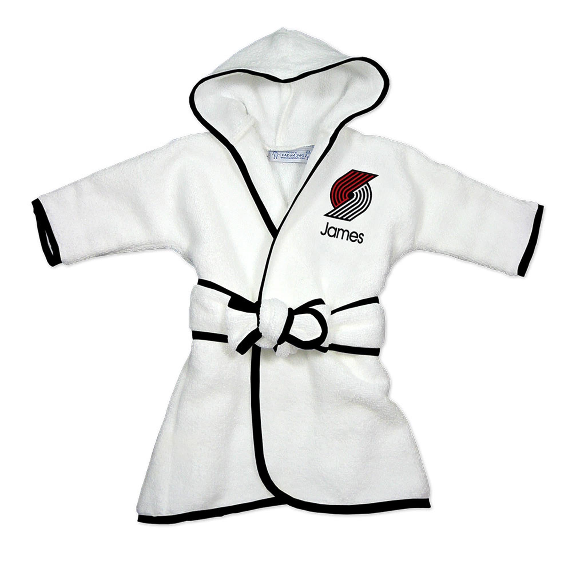 Portland Trail Blazers Infant Personalized Robe - White