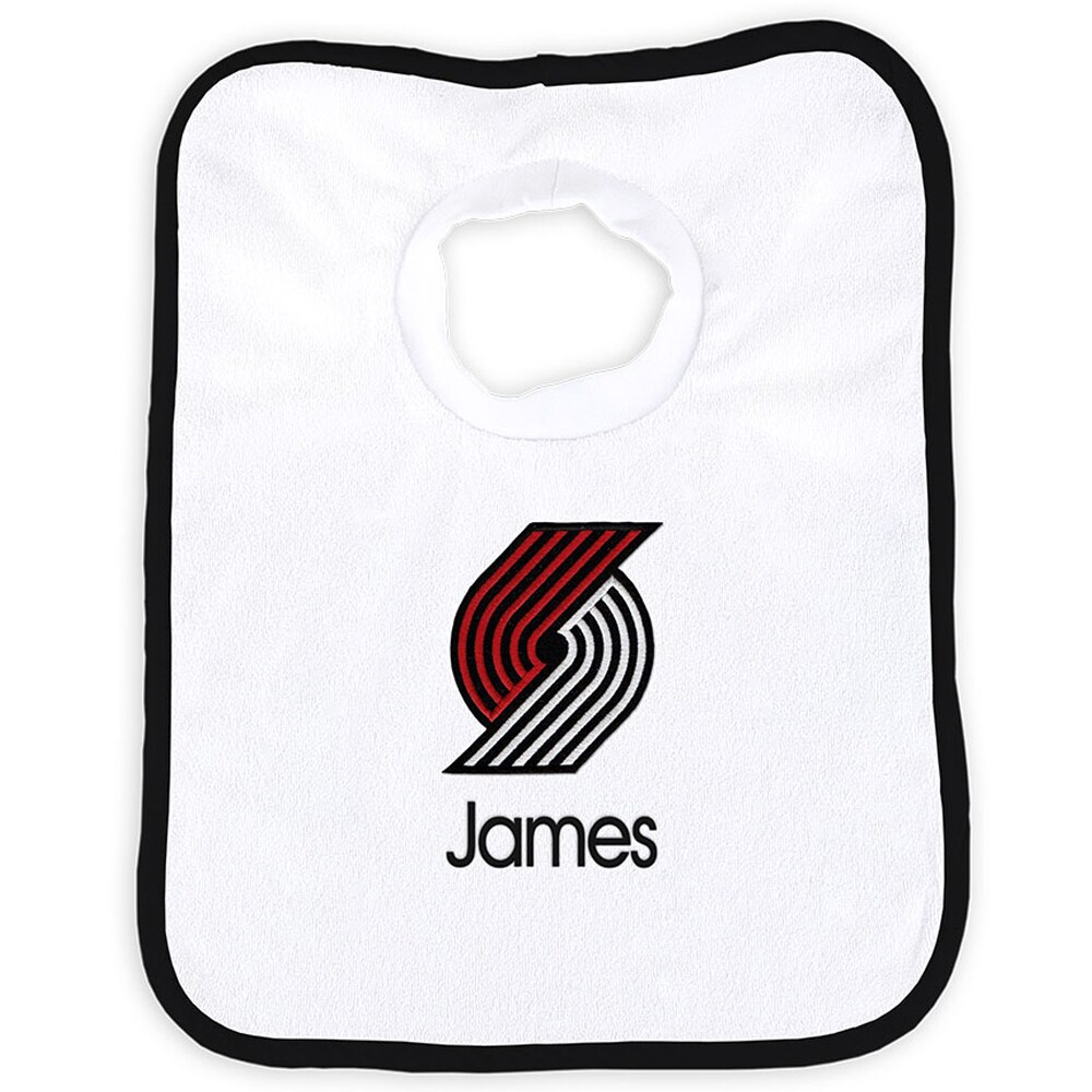 Portland Trail Blazers Newborn & Infant Personalized Bib - White