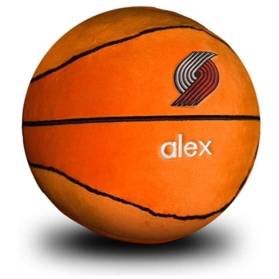 Portland Trail Blazers Personalized Plush Baby Basketball - Orange
