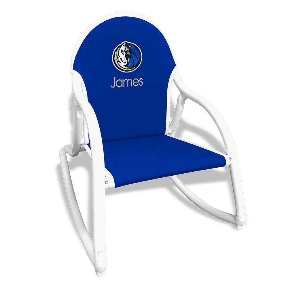 Dallas Mavericks Children's Personalized Rocking Chair - Royal
