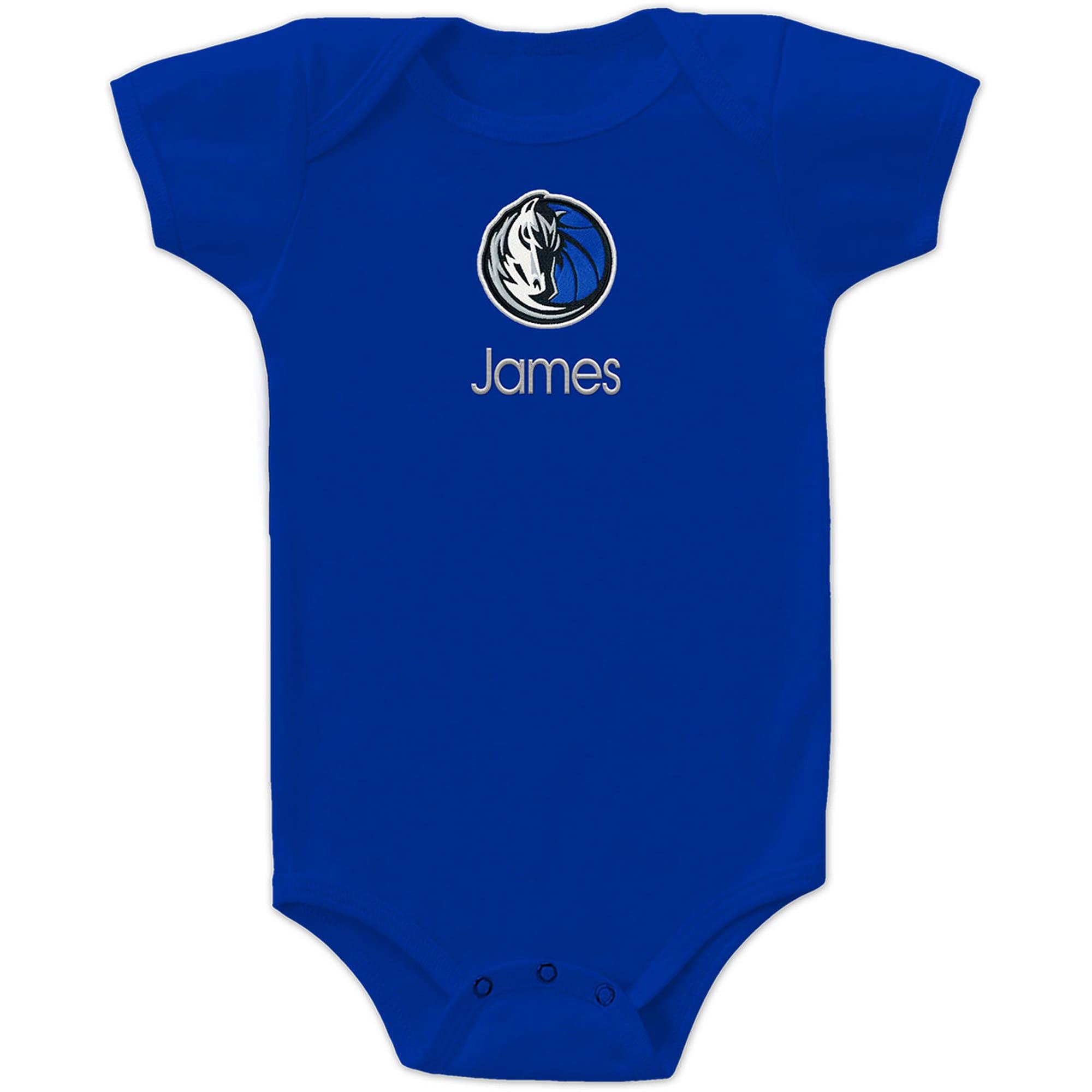 Dallas Mavericks Infant Personalized Bodysuit - Royal