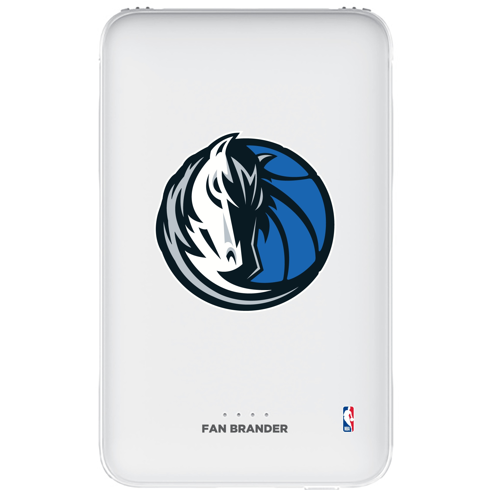 Dallas Mavericks 5000mAh Portable Power Bank - White