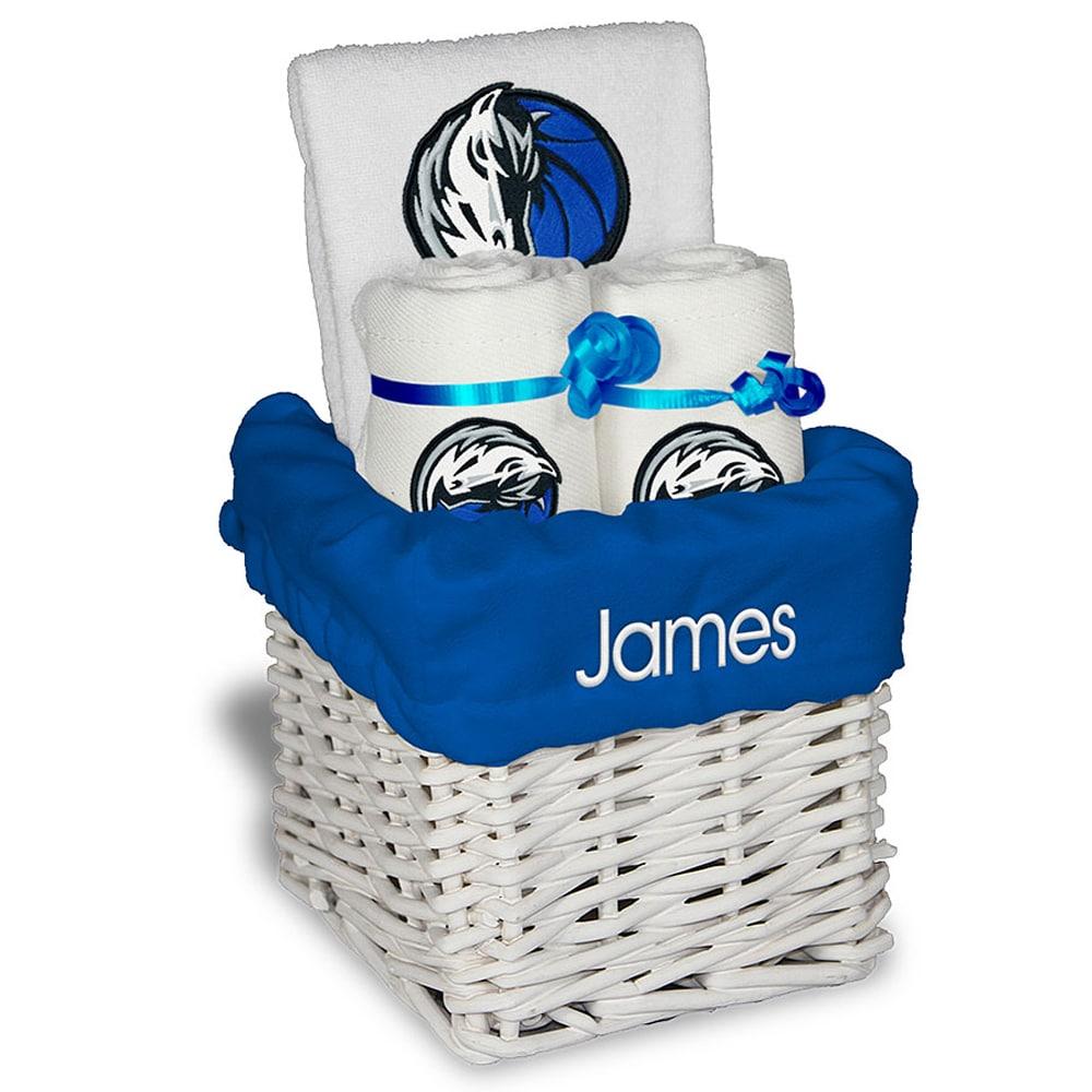 Dallas Mavericks Personalized Small Gift Basket - White