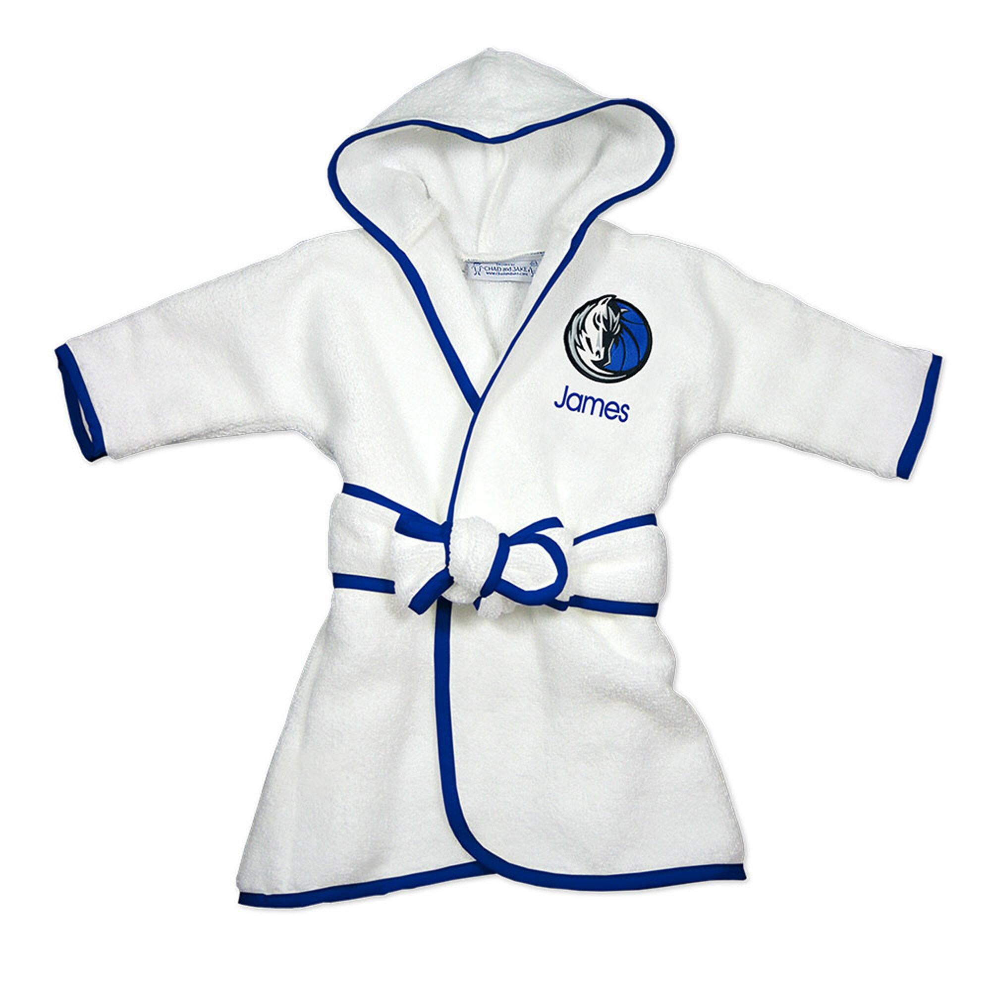 Dallas Mavericks Infant Personalized Robe - White
