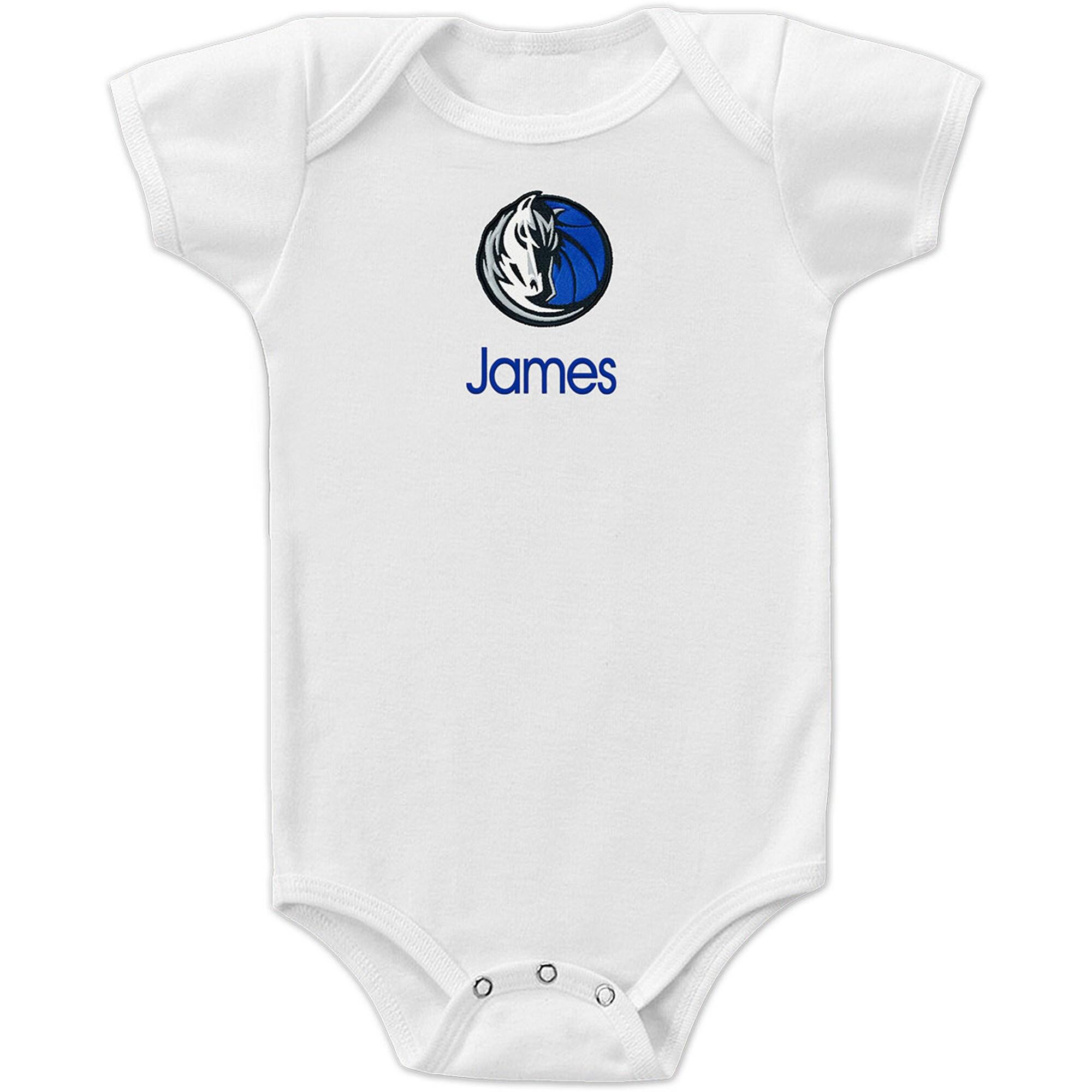 Dallas Mavericks Infant Personalized Bodysuit - White