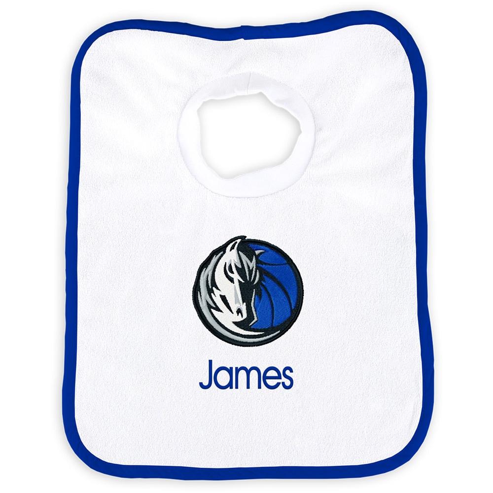 Dallas Mavericks Newborn & Infant Personalized Bib - White