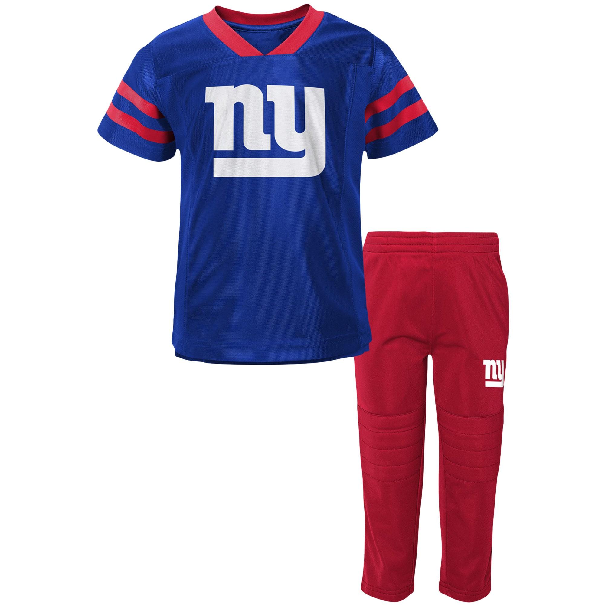 New York Giants Toddler Training Camp V-Neck T-Shirt & Pants Set - Royal/Red