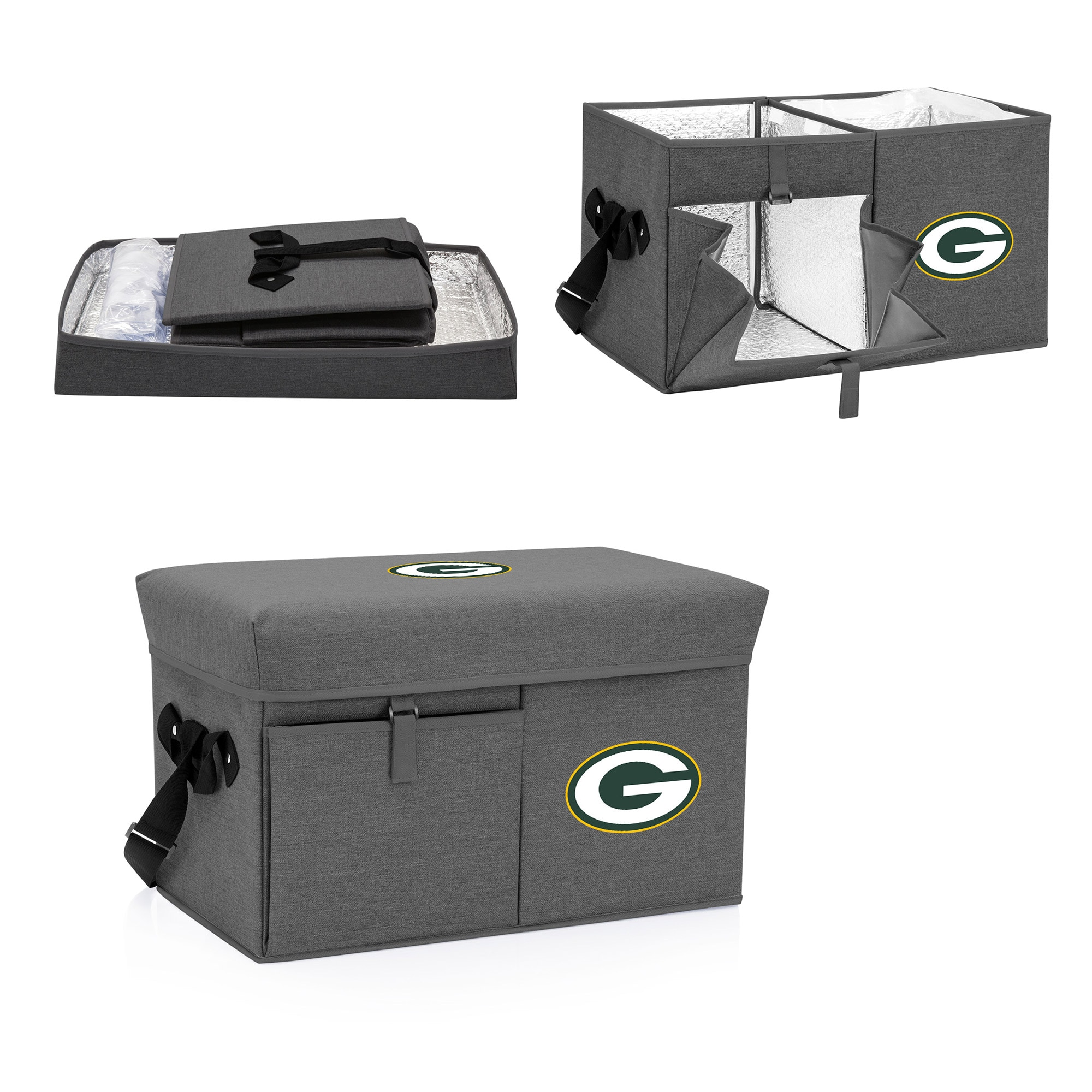 Green Bay Packers Ottoman Cooler & Seat - Gray