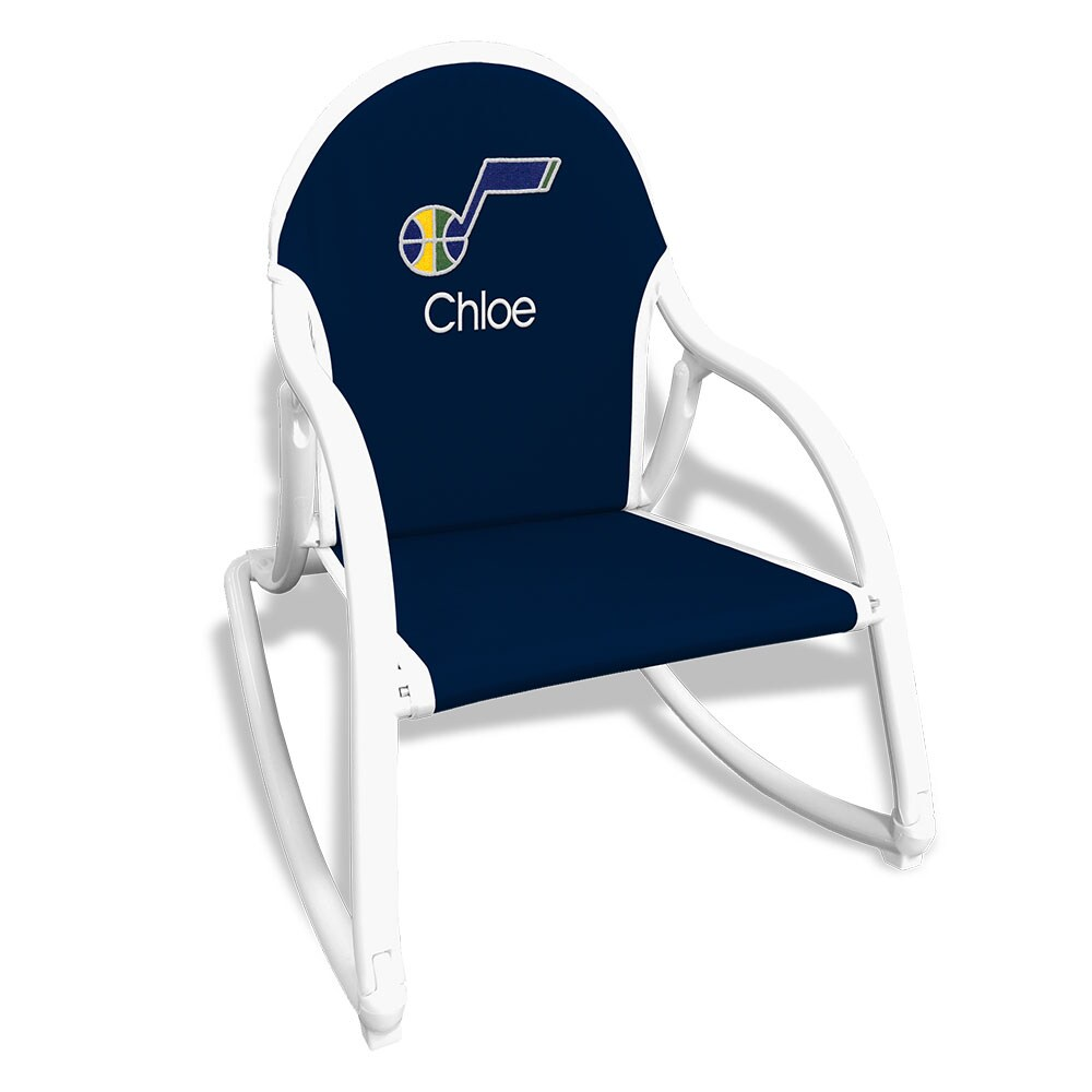 Utah Jazz Children's Personalized Rocking Chair - Navy