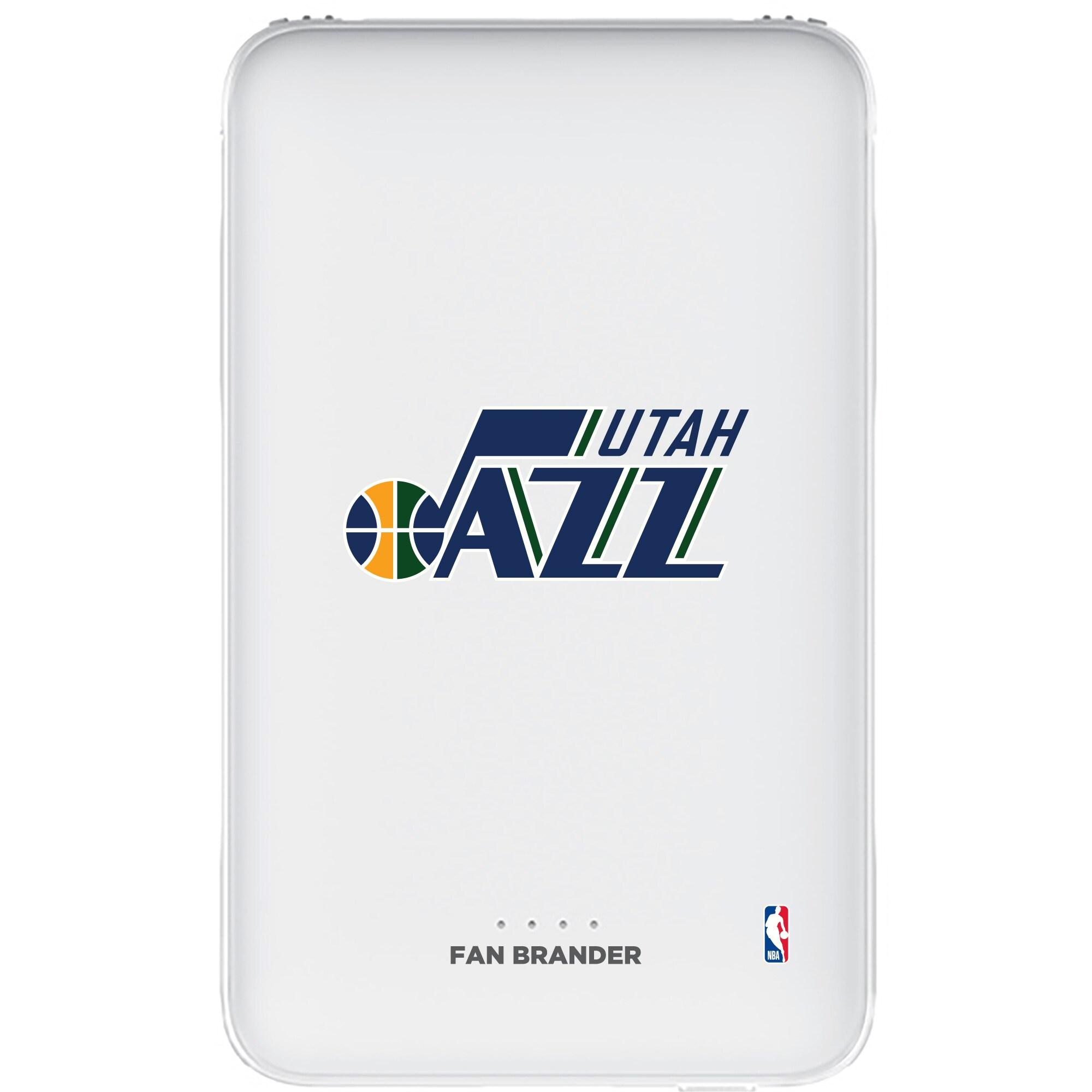 Utah Jazz 5000mAh Portable Power Bank - White