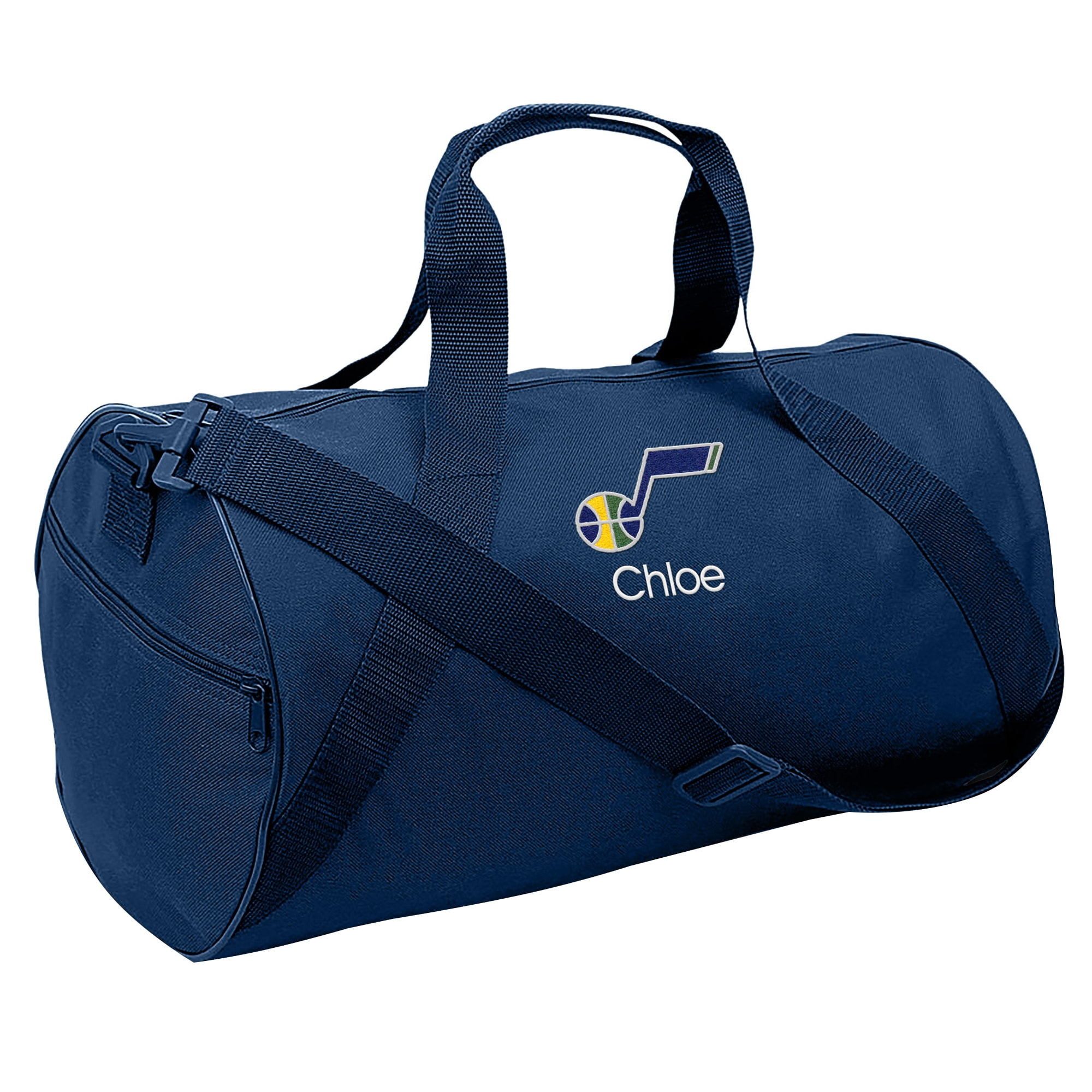 Utah Jazz Youth Personalized Duffle Bag - Navy