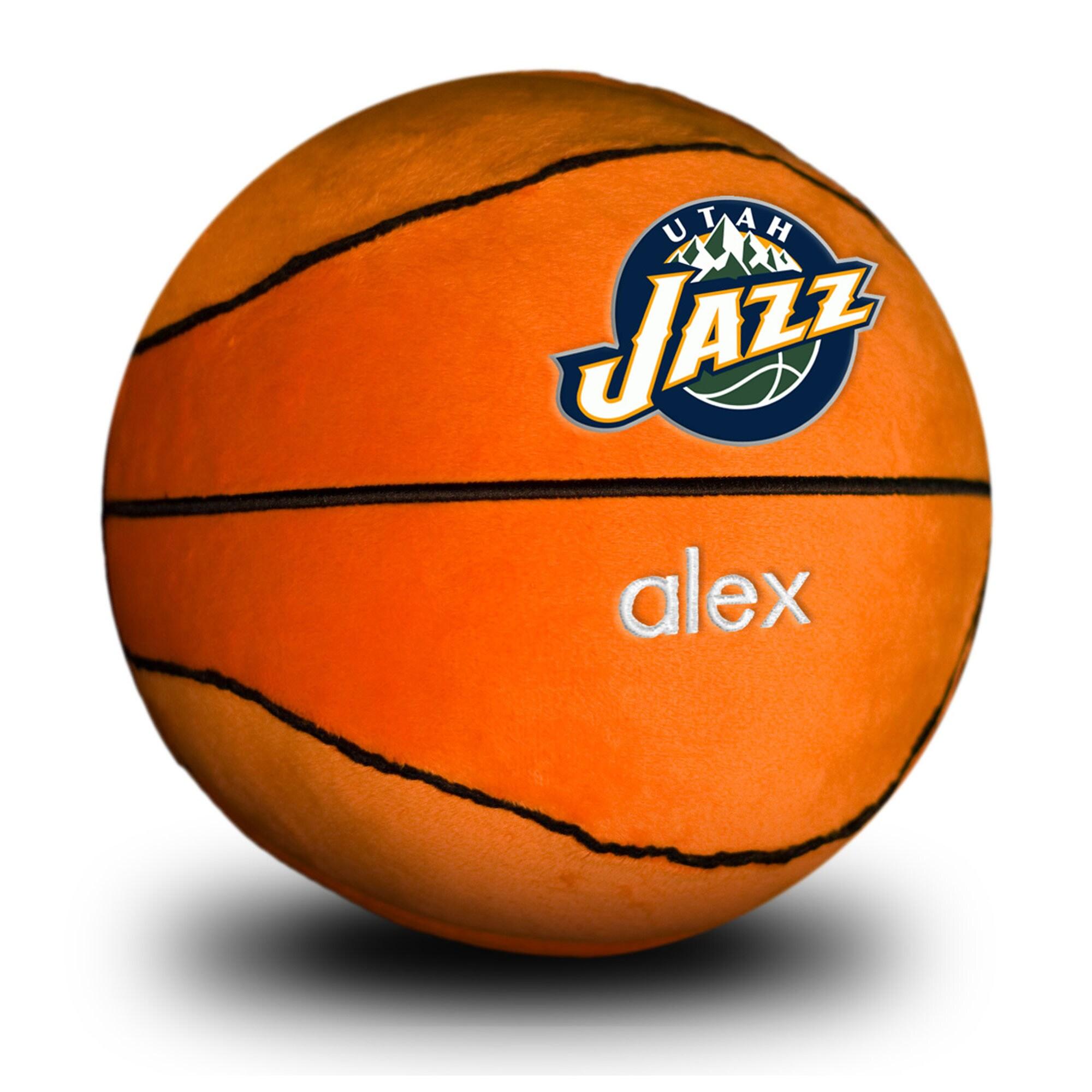 Utah Jazz Personalized Plush Baby Basketball - Orange