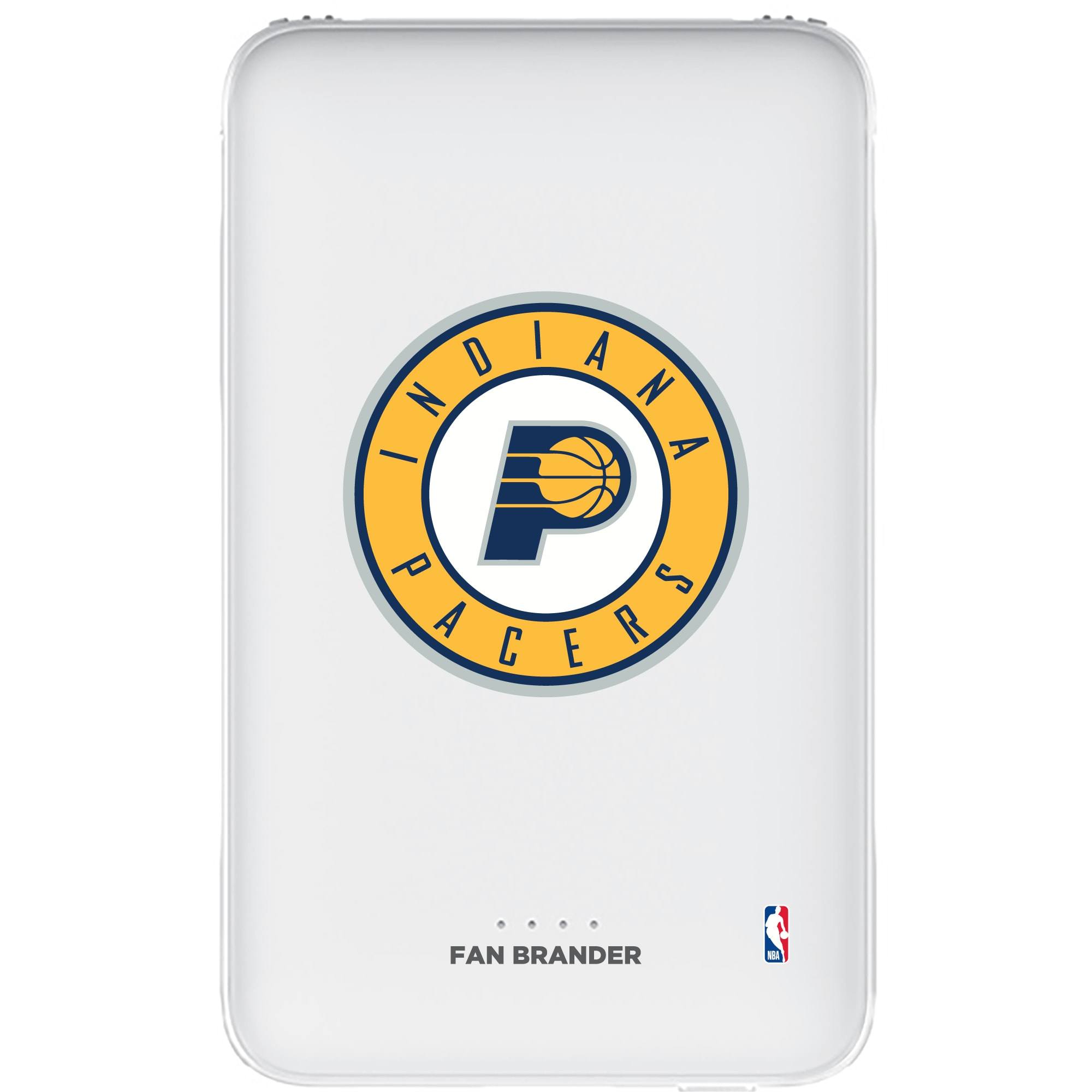 Indiana Pacers 5000mAh Portable Power Bank - White