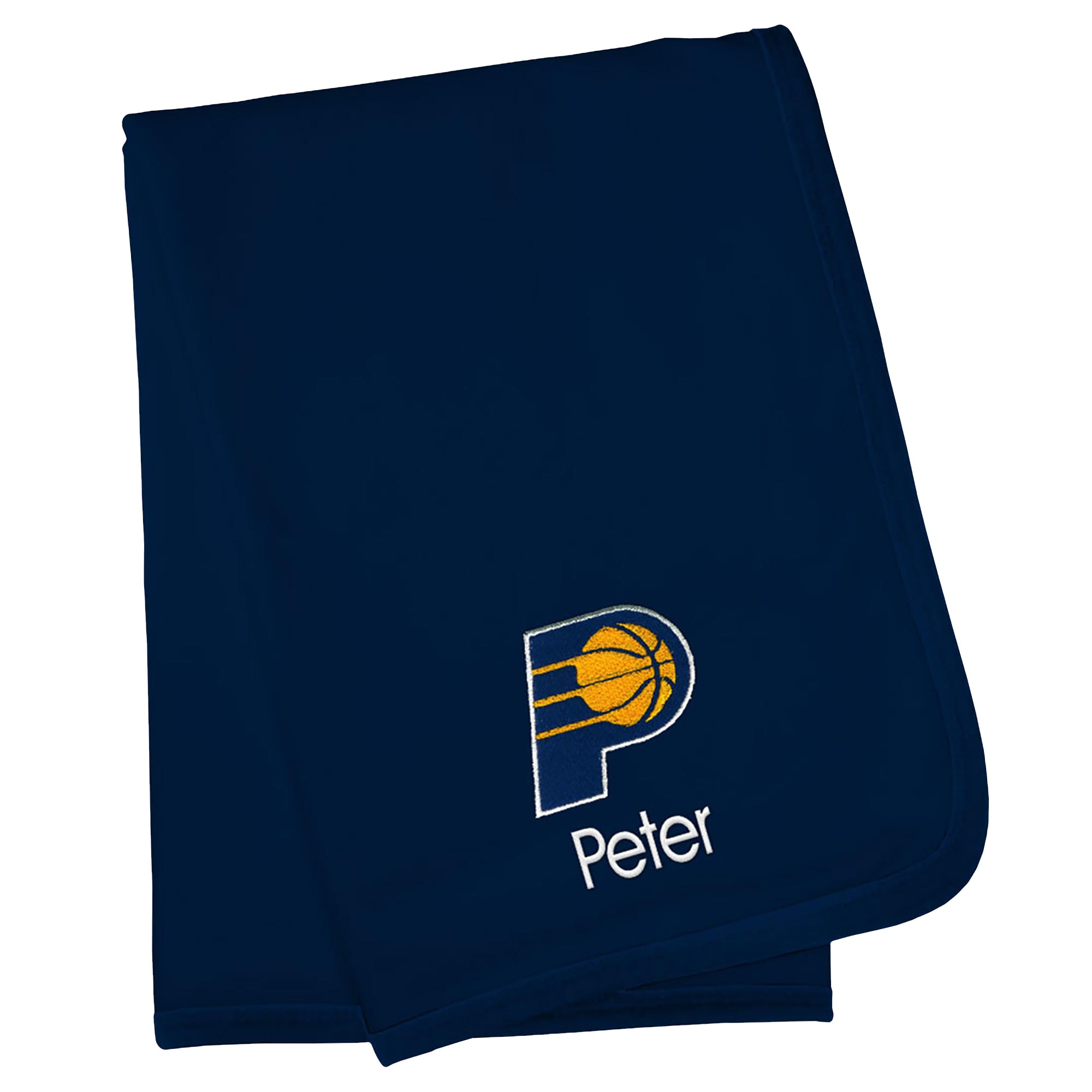 Indiana Pacers Infant Personalized Blanket - Navy