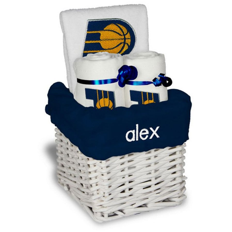 Indiana Pacers Personalized Small Gift Basket - White