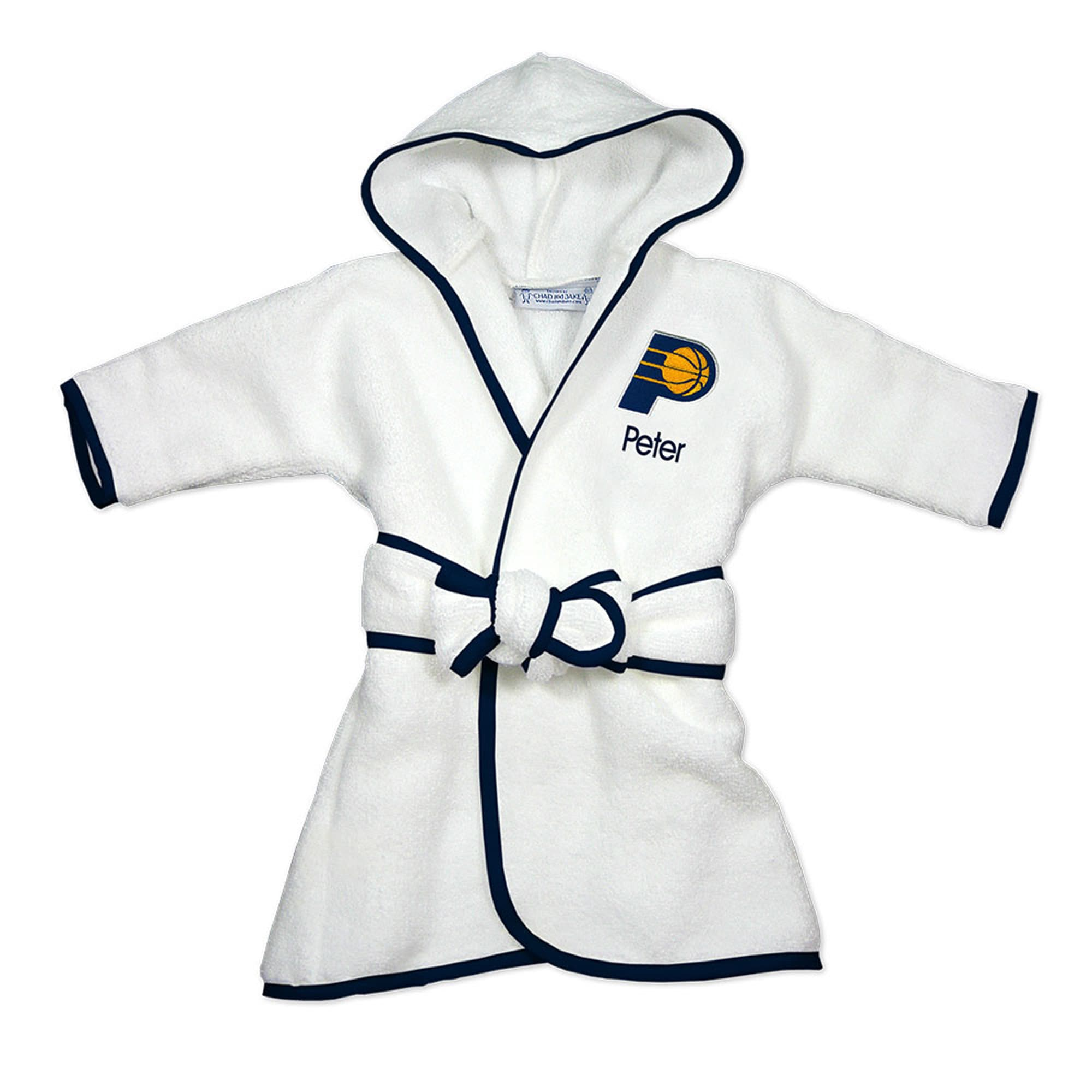 Indiana Pacers Infant Personalized Robe - White