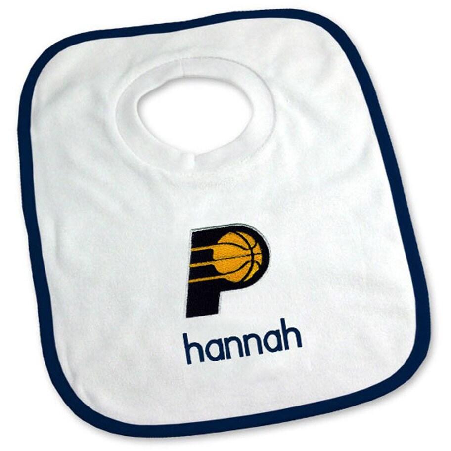 Indiana Pacers Newborn & Infant Personalized Bib - White