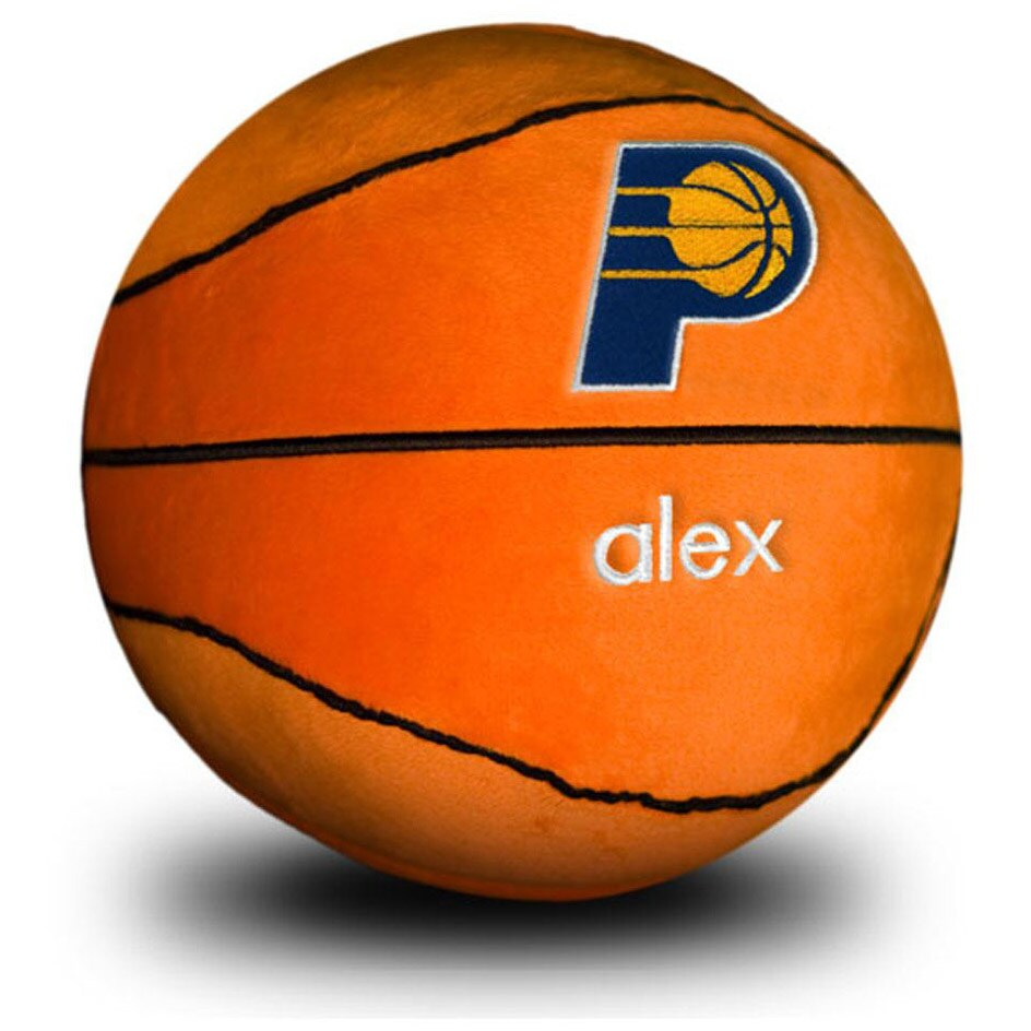 Indiana Pacers Personalized Plush Baby Basketball - Orange