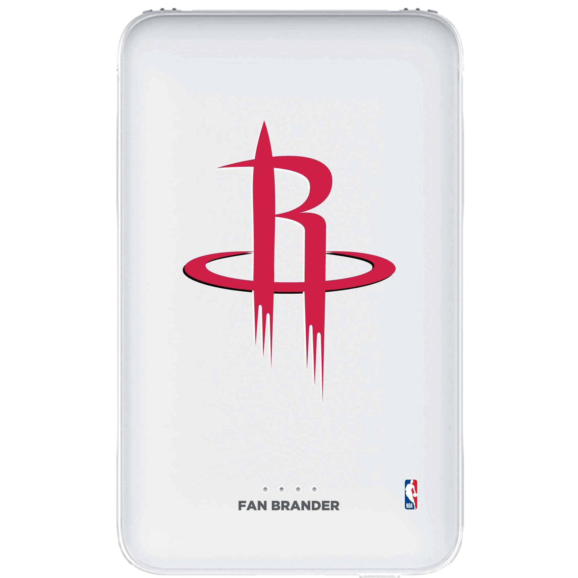 Houston Rockets 5000mAh Portable Power Bank - White