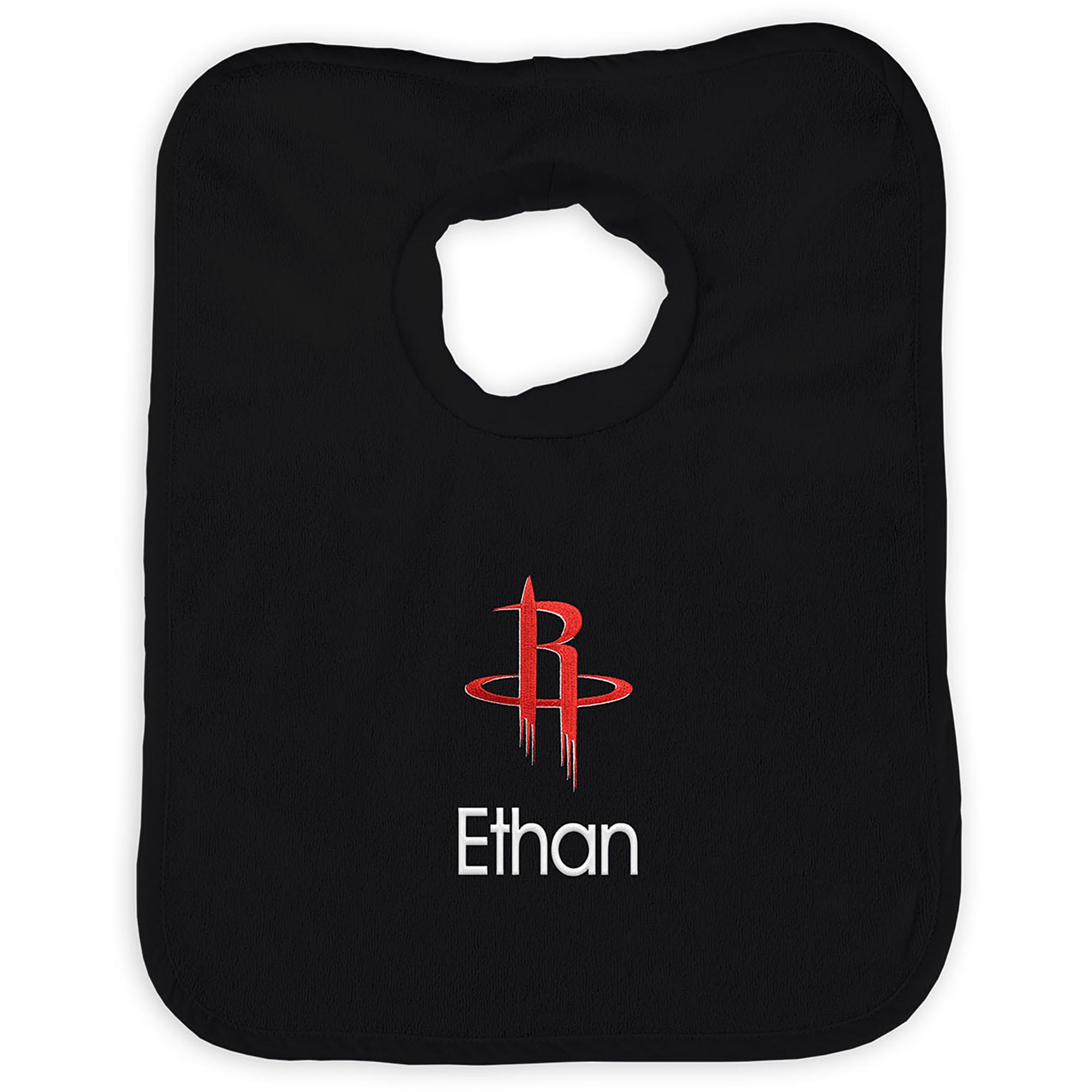 Houston Rockets Infant Personalized Bib - Black