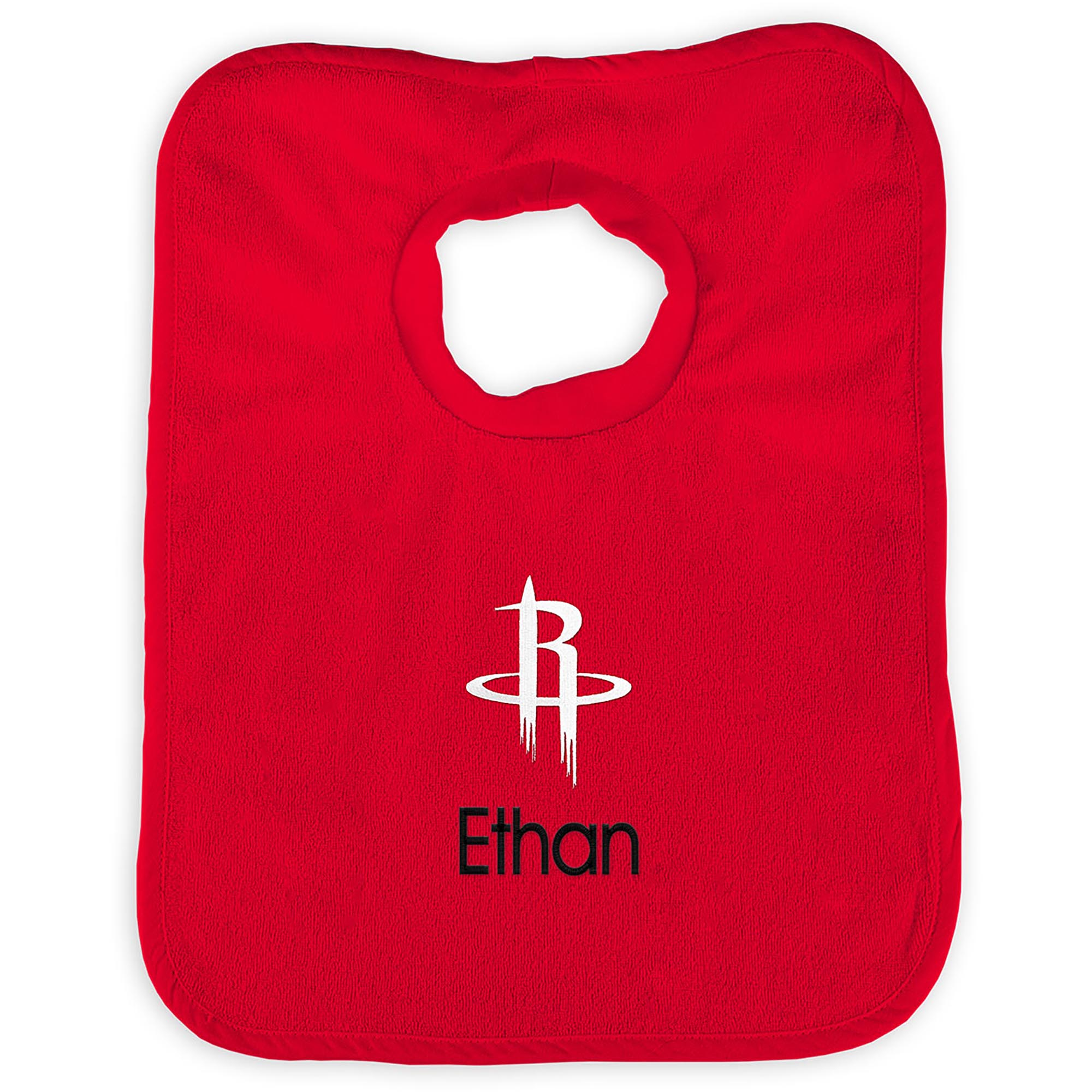 Houston Rockets Infant Personalized Bib - Red