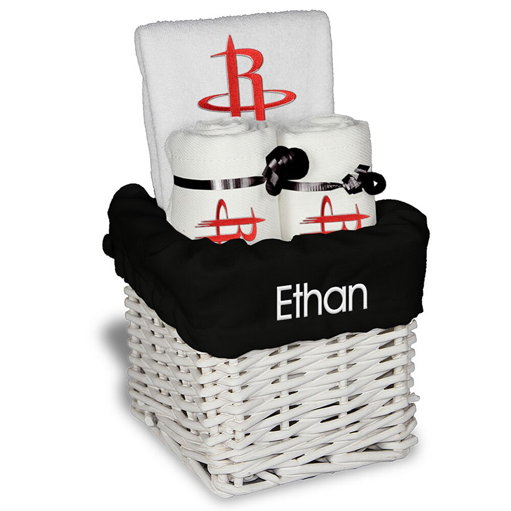 Houston Rockets Personalized Small Gift Basket - White