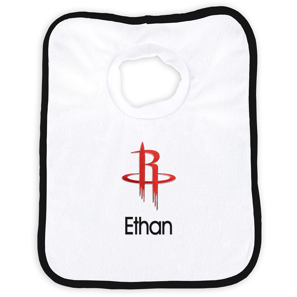 Houston Rockets Newborn & Infant Personalized Bib - White