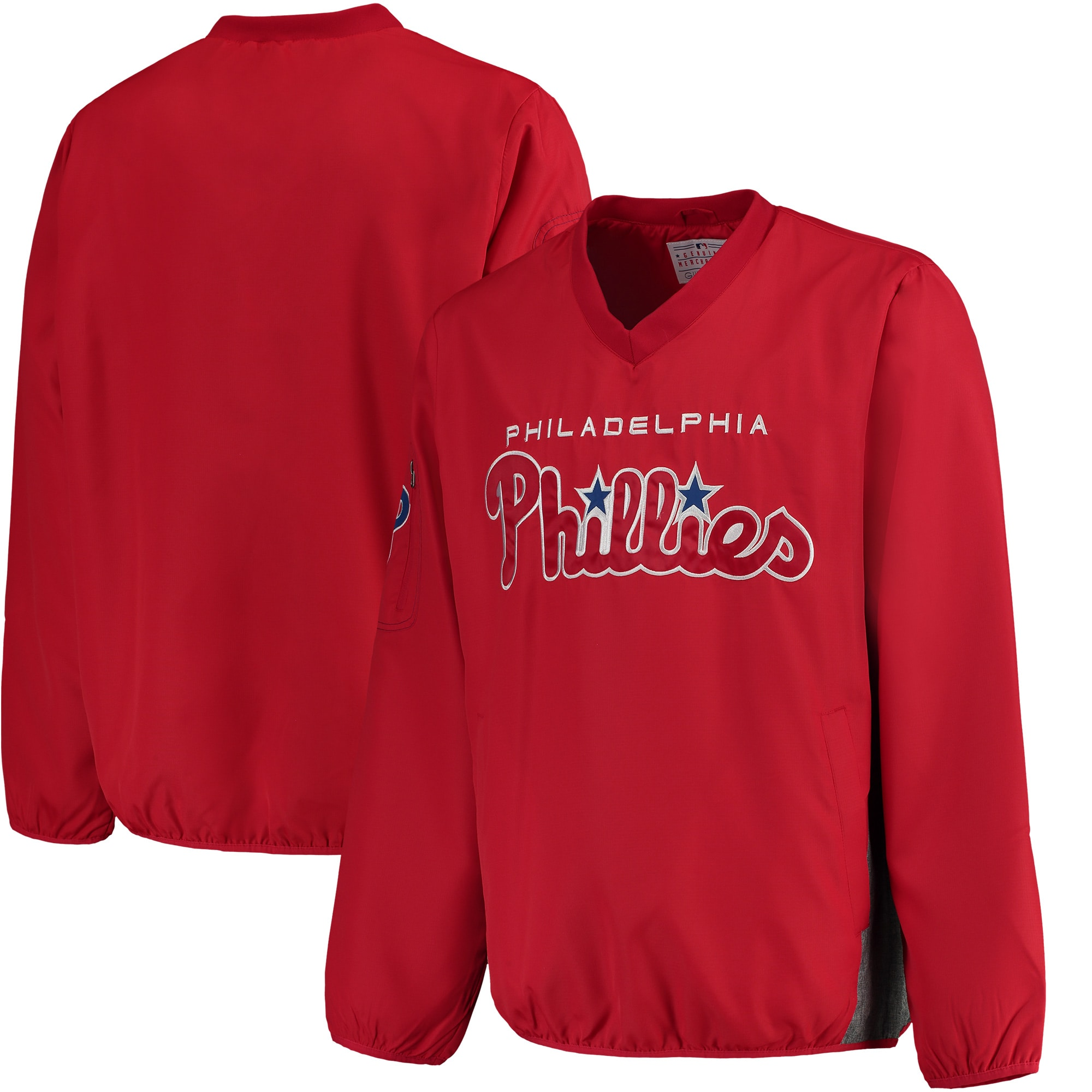 Philadelphia Phillies G-III Sports by Carl Banks Gridiron V-Neck Pullover Jacket - Red