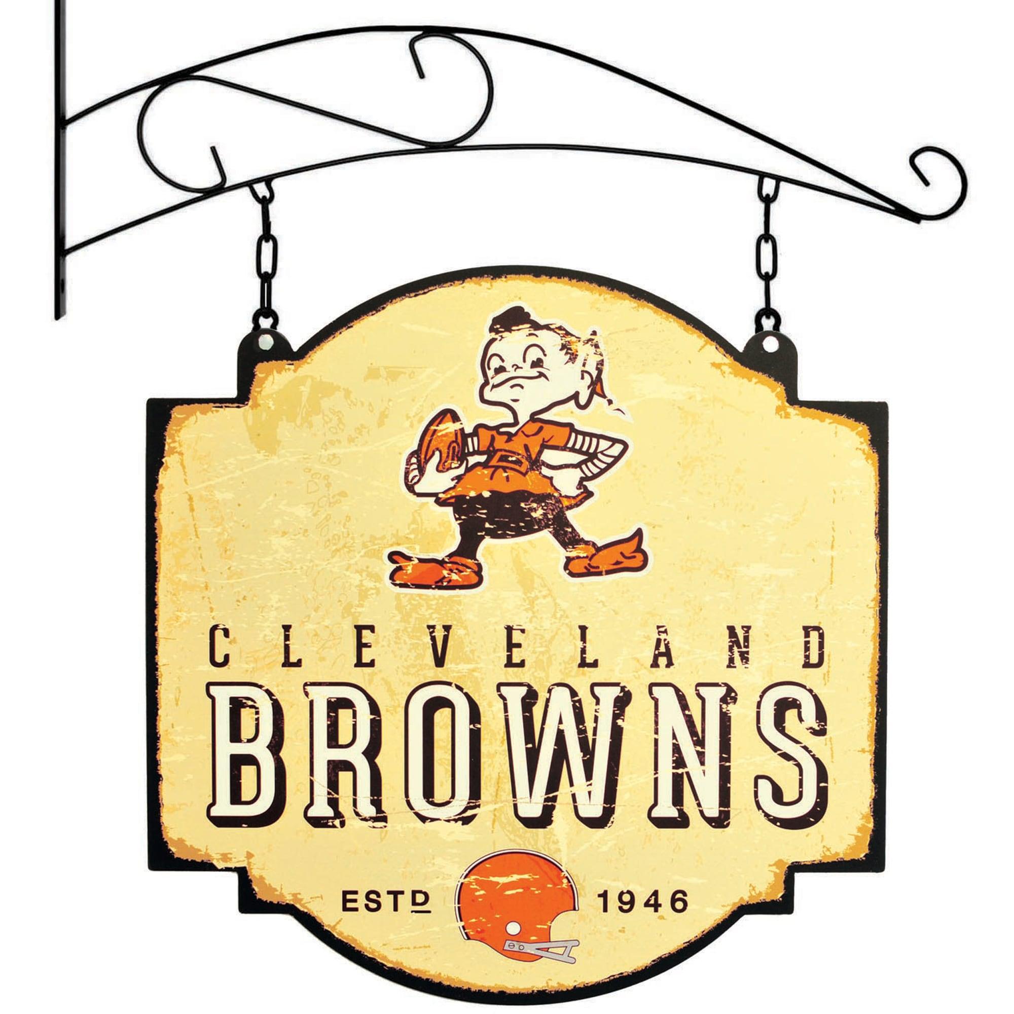 "Cleveland Browns 16"" x 16"" Tavern Sign - Cream"