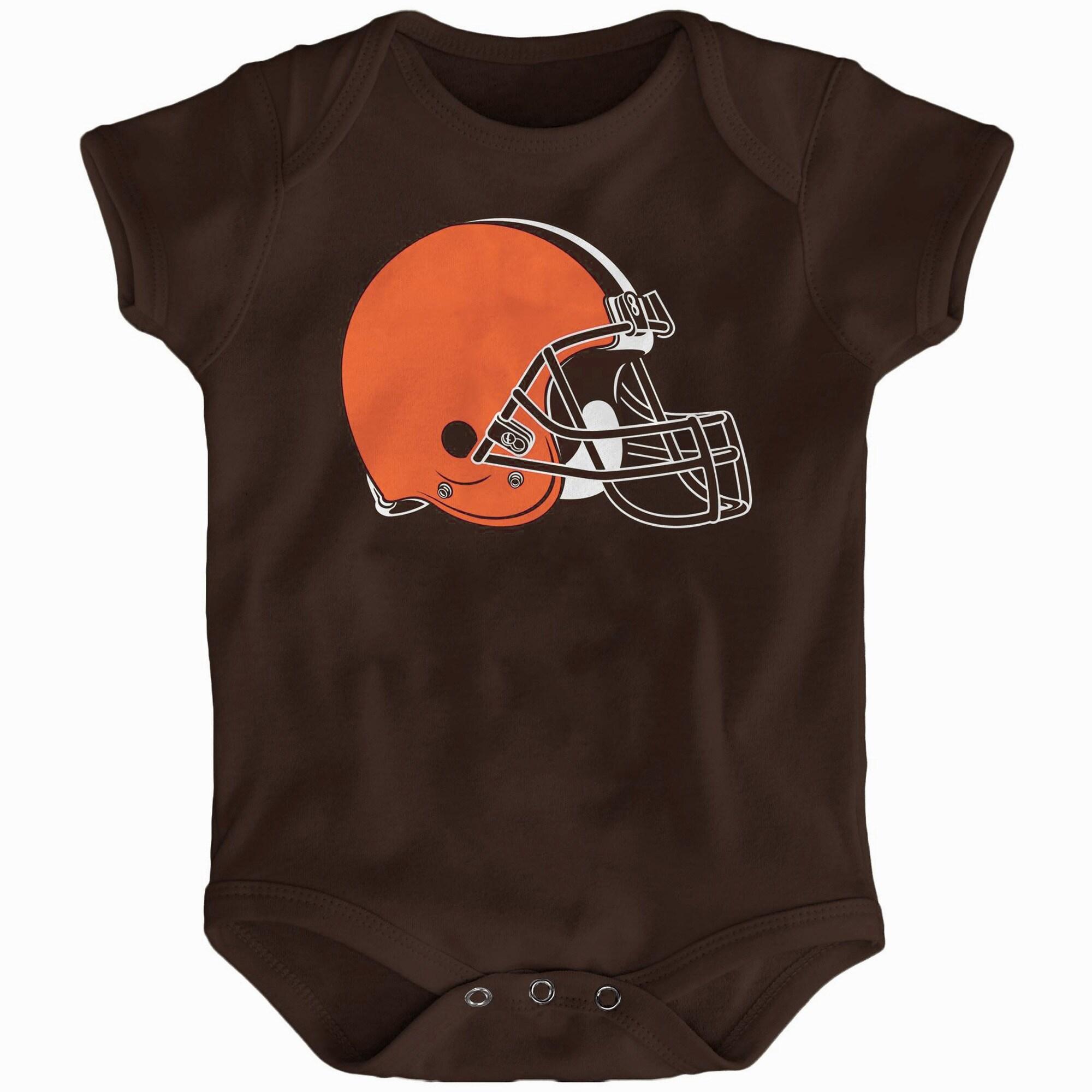 Cleveland Browns Newborn & Infant Team Logo Bodysuit - Brown