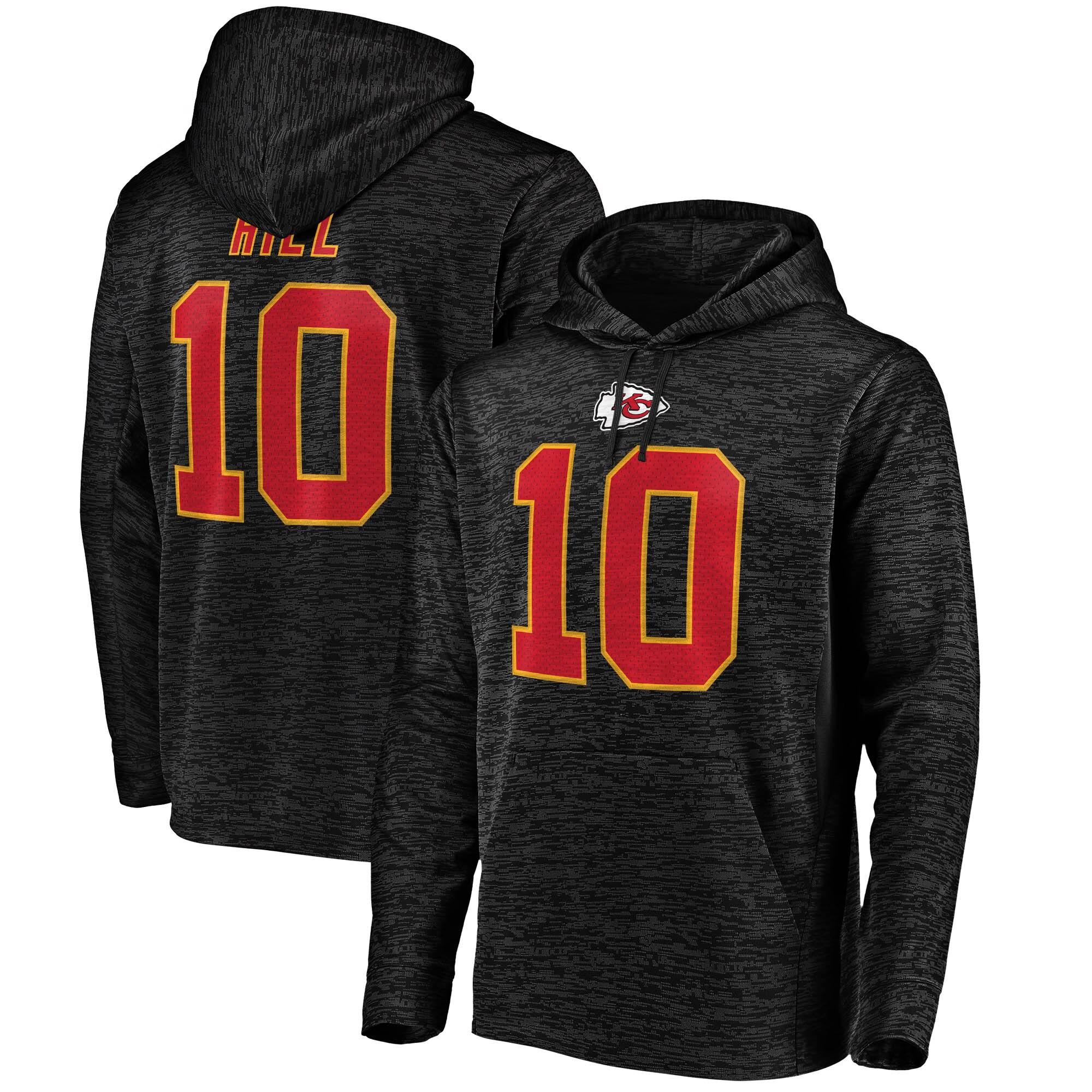 Tyreek Hill Kansas City Chiefs NFL Pro Line by Fanatics Branded Streak Fleece Name & Number Pullover Hoodie - Black