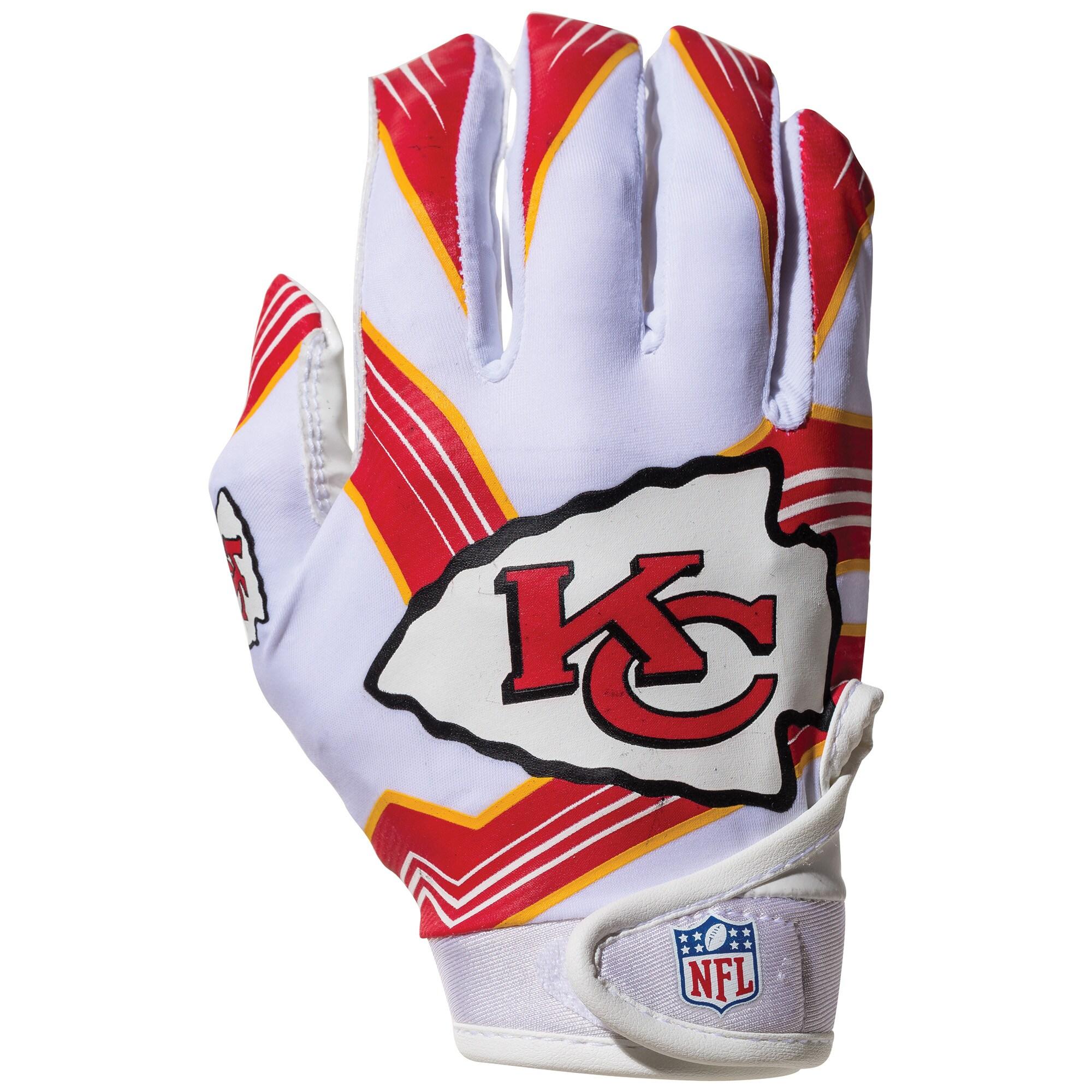 Kansas City Chiefs Franklin Sports Youth Receiver Gloves
